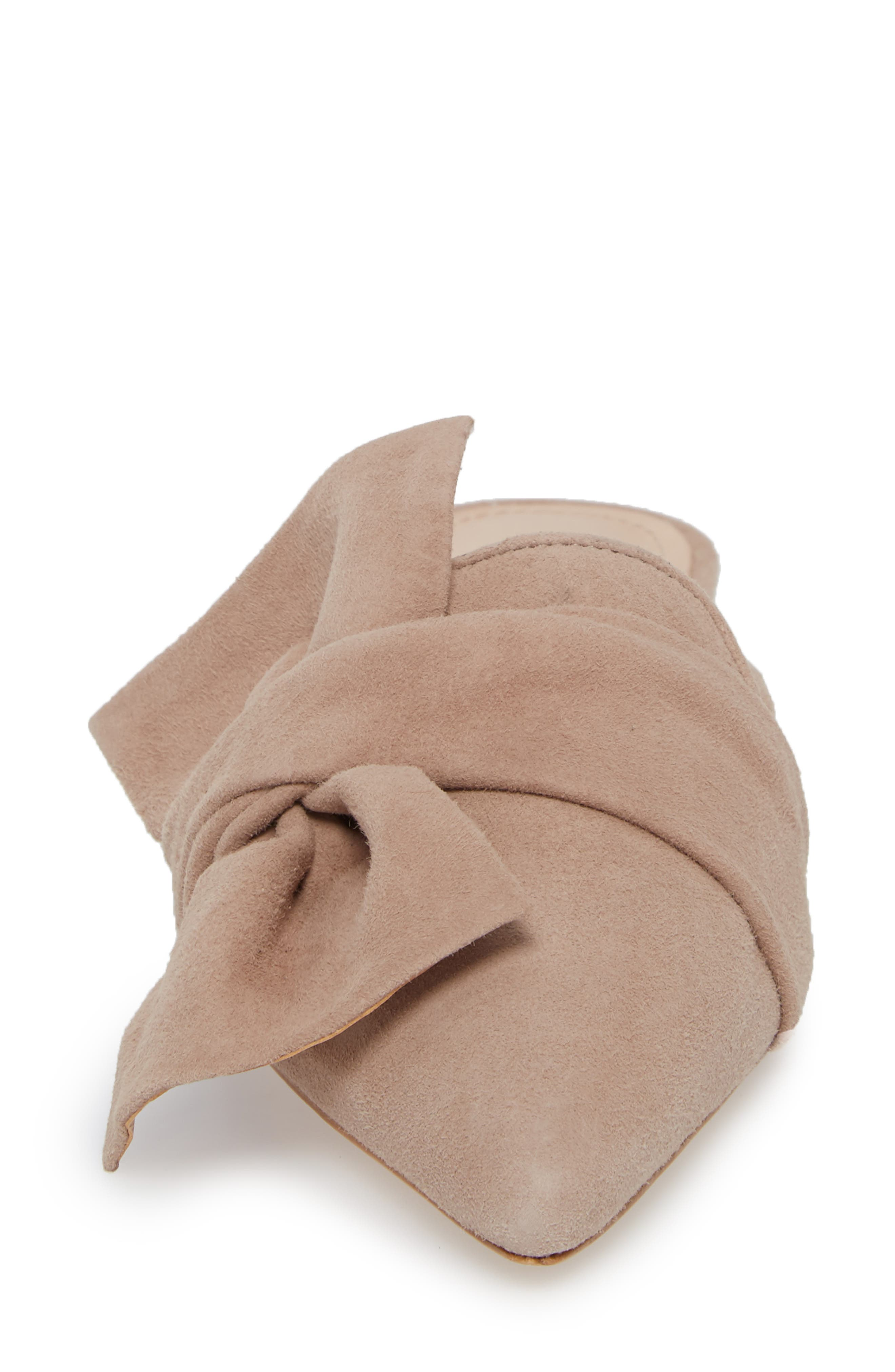 D'Ana Knotted Loafer Mule,                             Alternate thumbnail 4, color,                             NEUTRAL SUEDE
