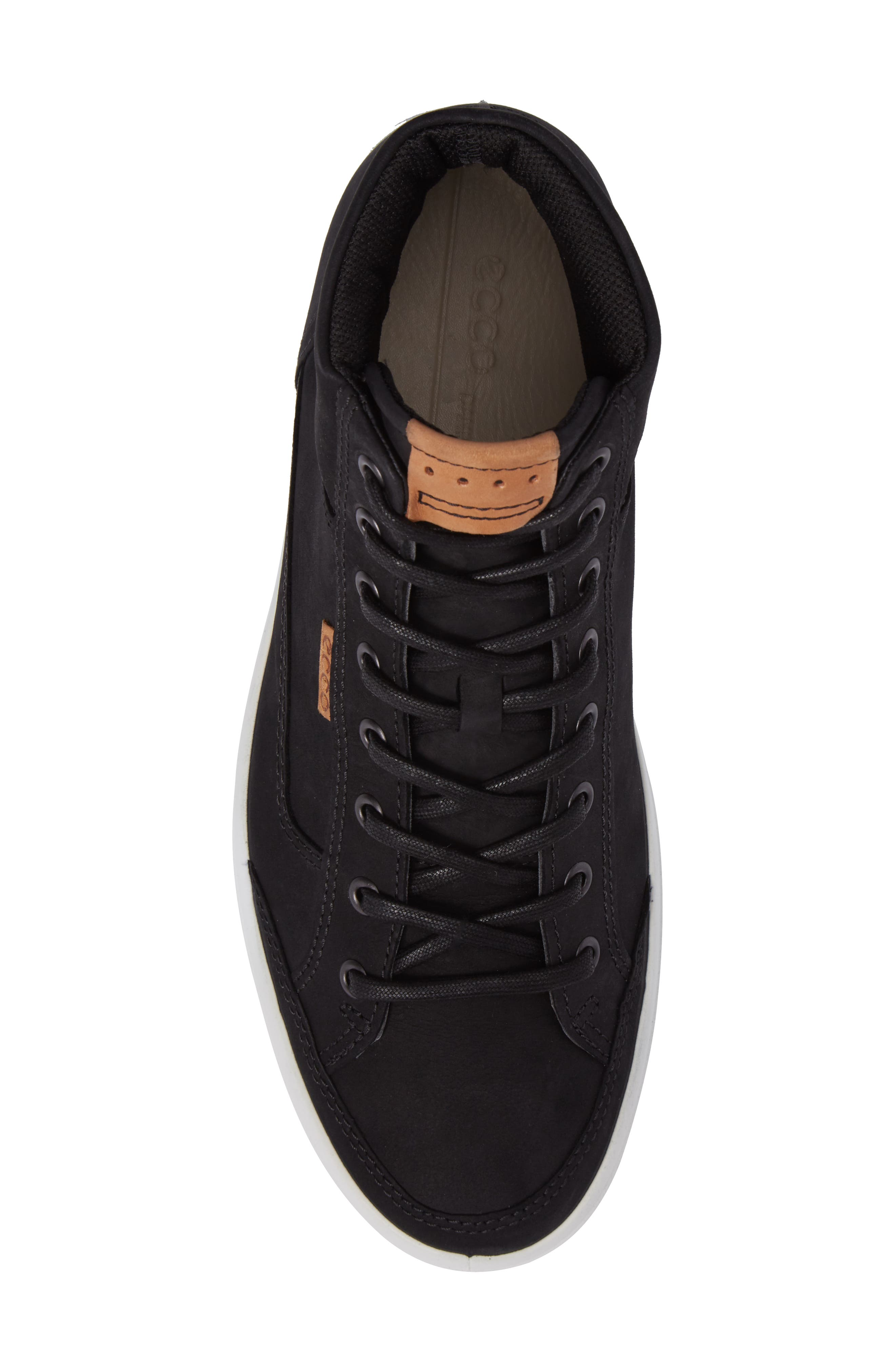 Soft 7 Sneaker,                             Alternate thumbnail 5, color,                             BLACK LEATHER