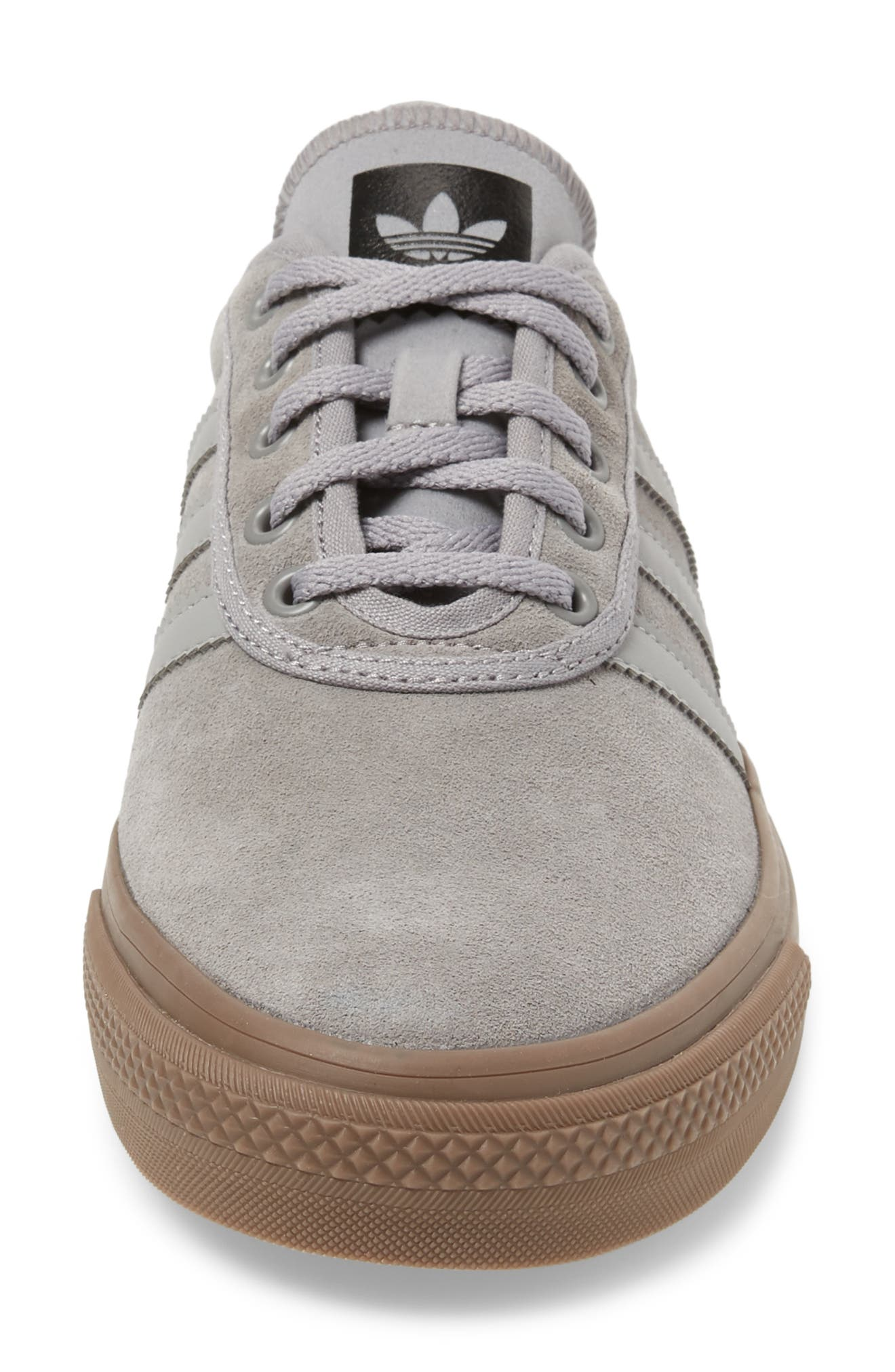 Adiease Skate Sneaker,                             Alternate thumbnail 4, color,                             SOLID GREY/ SOLID GREY/ GUM