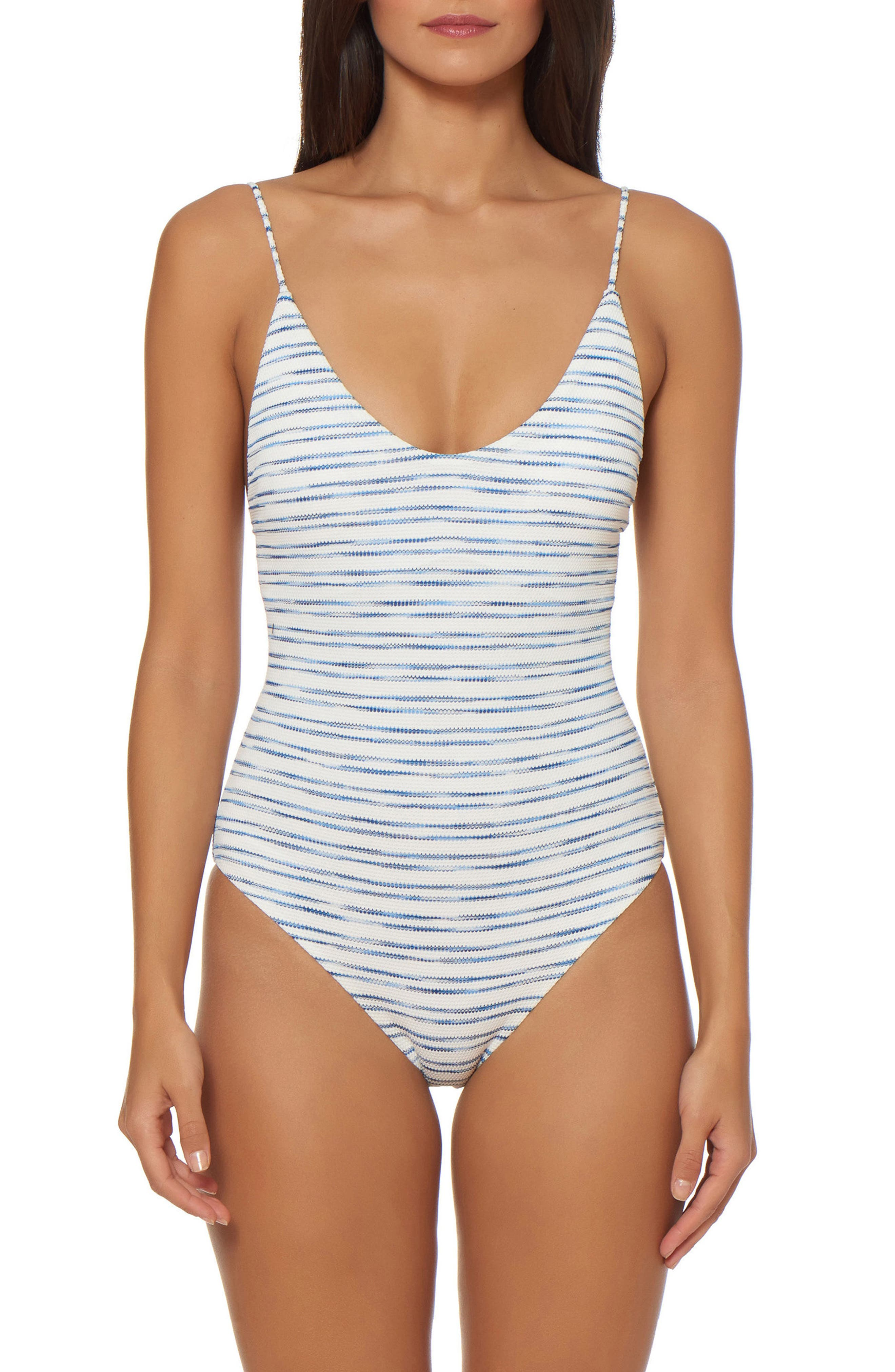 Lace-Up One-Piece Swimsuit,                         Main,                         color, 168