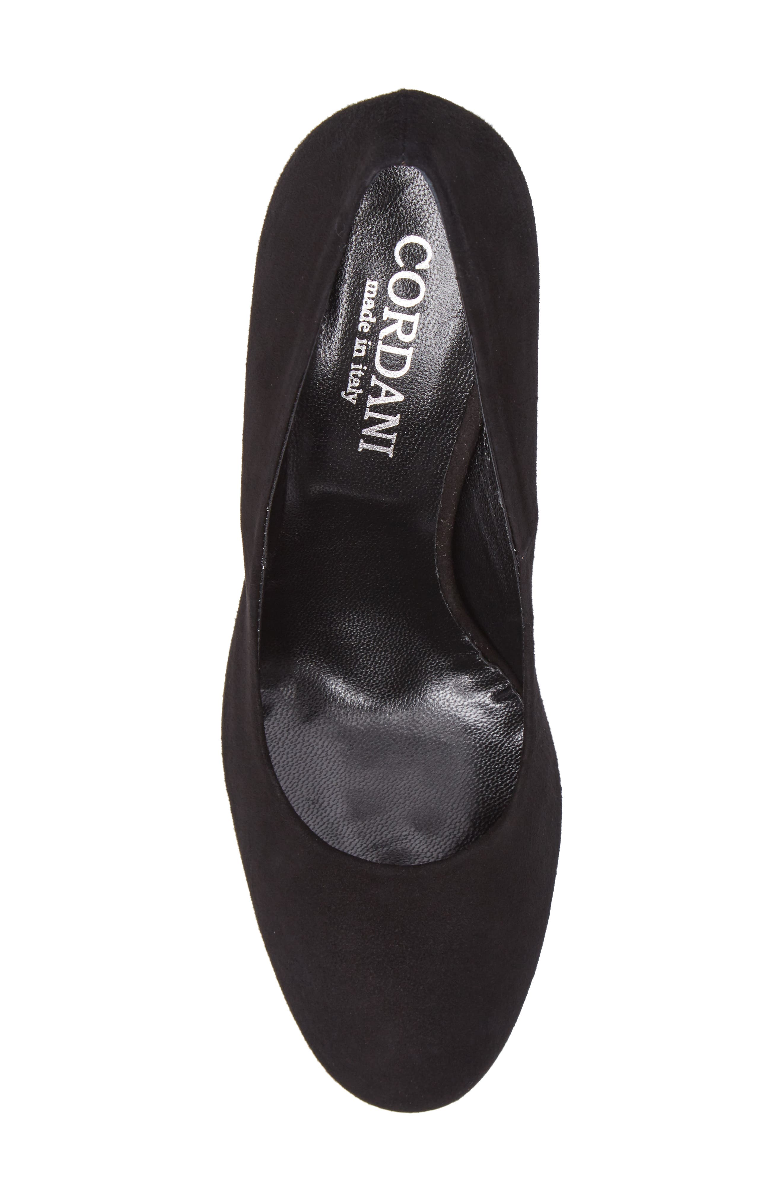 Hanette Pump,                             Alternate thumbnail 5, color,                             BLACK SUEDE
