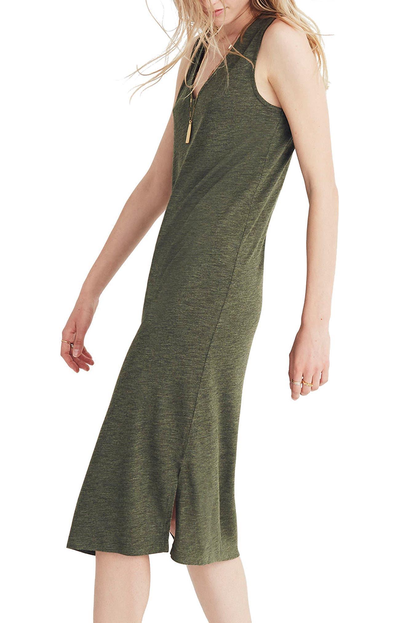V-Neck Jersey Tank Dress,                             Alternate thumbnail 3, color,                             300