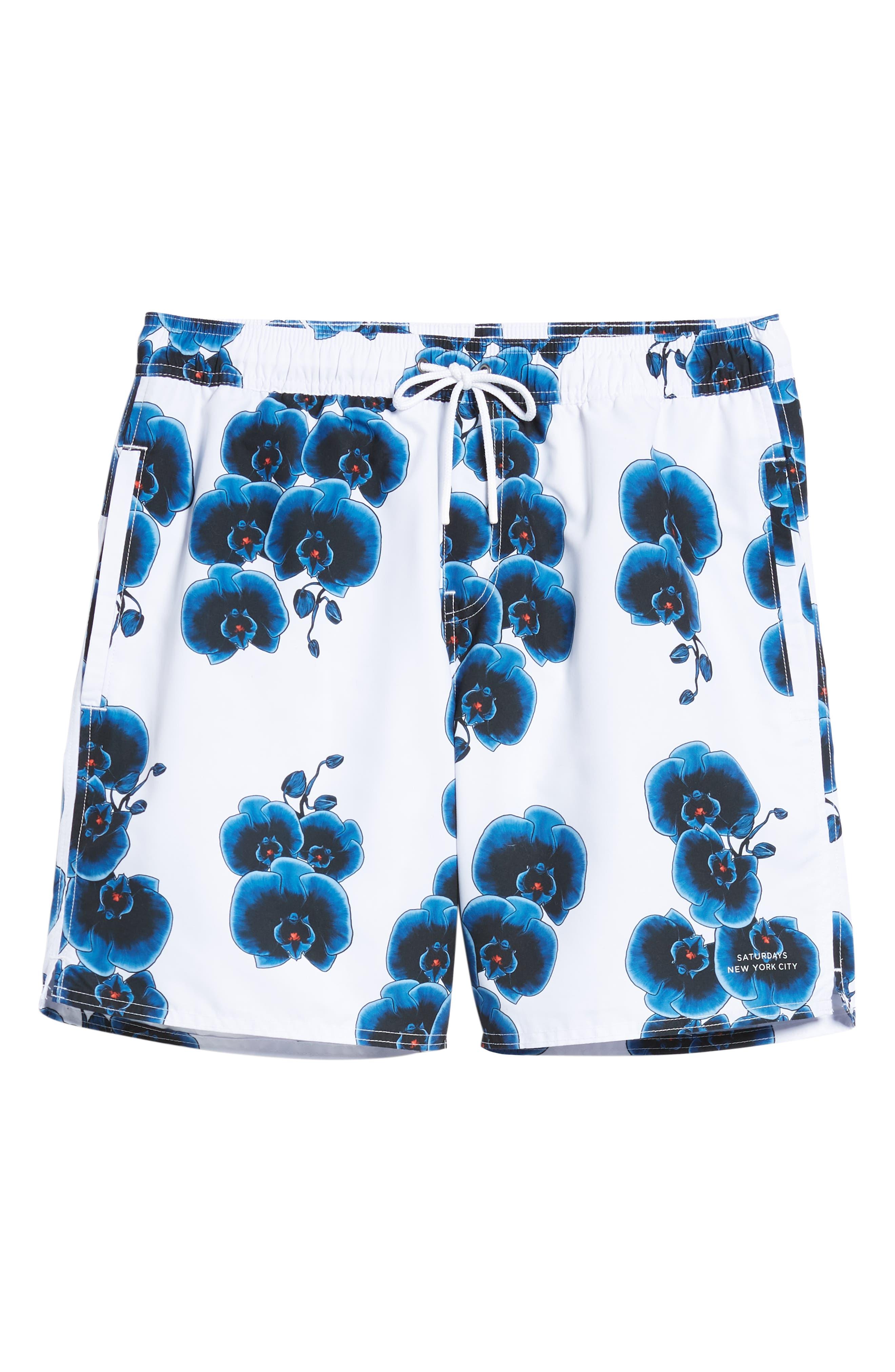 Timothy Orchid Swim Shorts,                             Alternate thumbnail 6, color,                             110