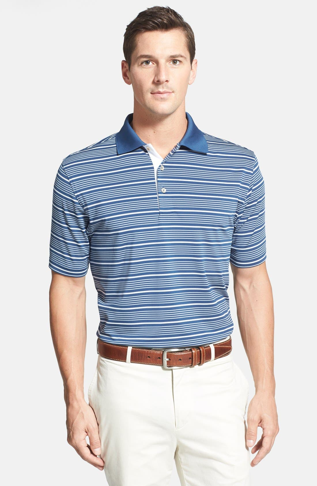 'Staley' Moisture Wicking Polo,                         Main,                         color, 402