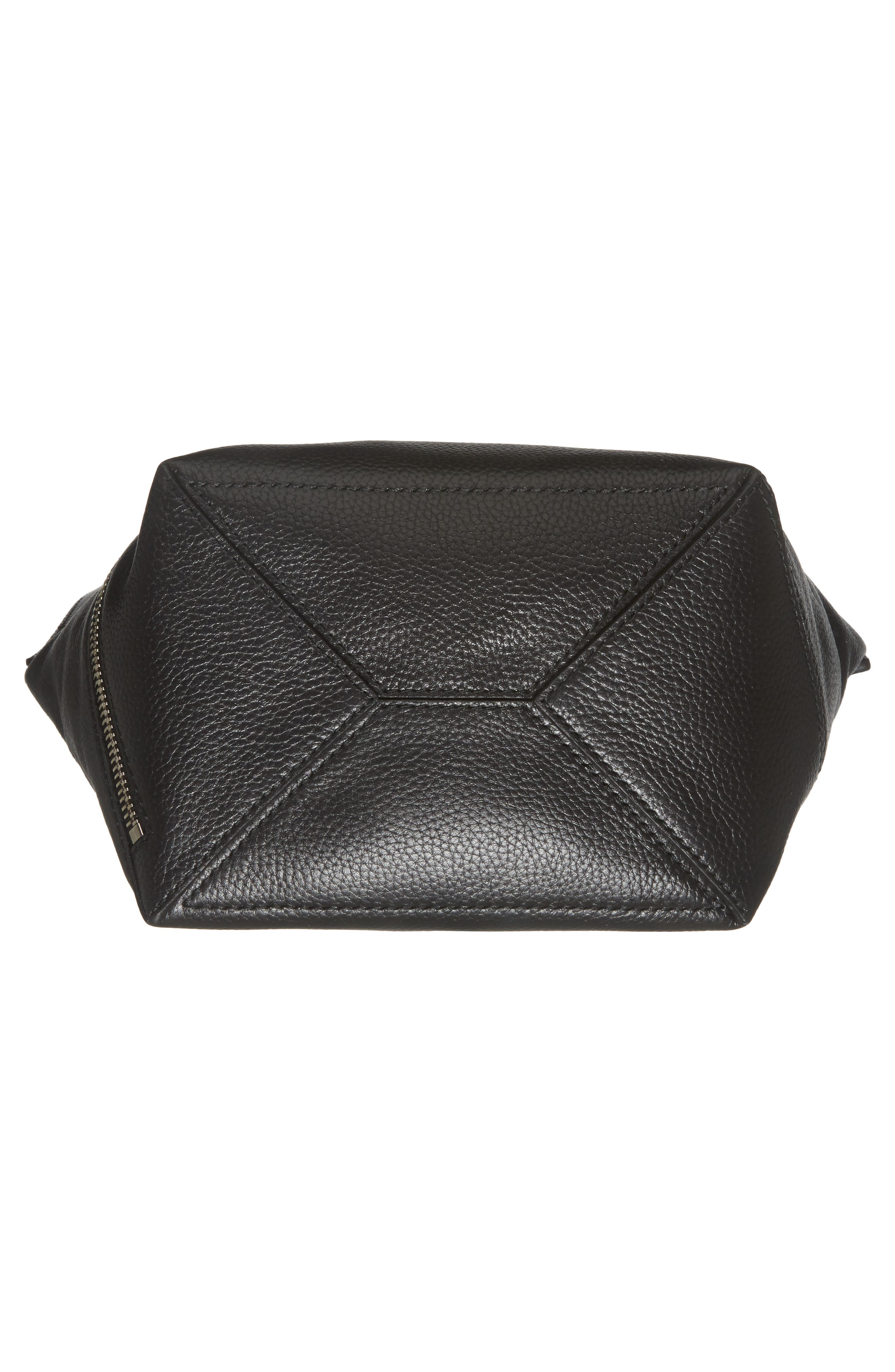 Small Leather Hobo Bag,                             Alternate thumbnail 6, color,                             001