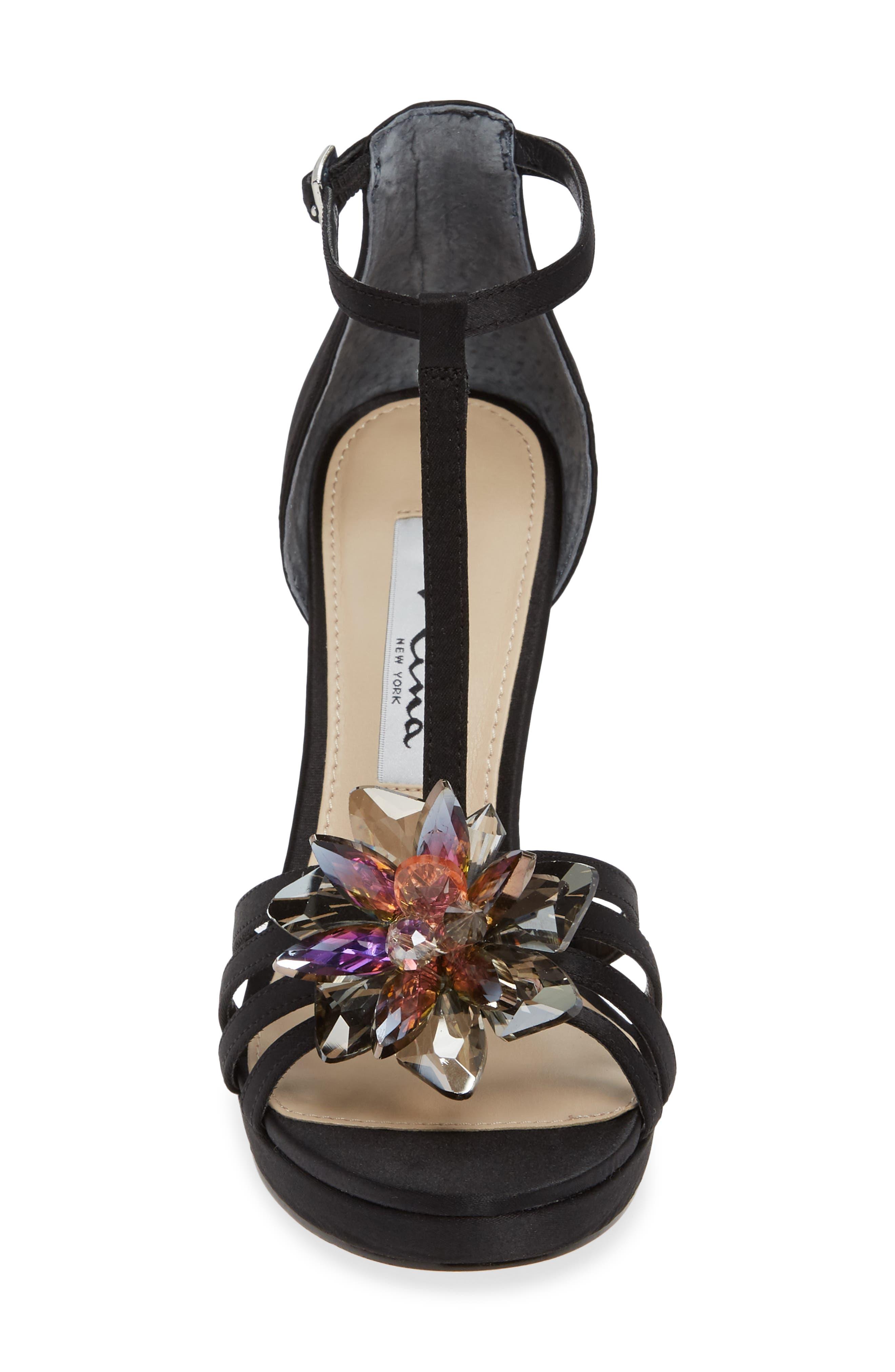 NINA,                             Falynne T-Strap Platform Sandal,                             Alternate thumbnail 4, color,                             003