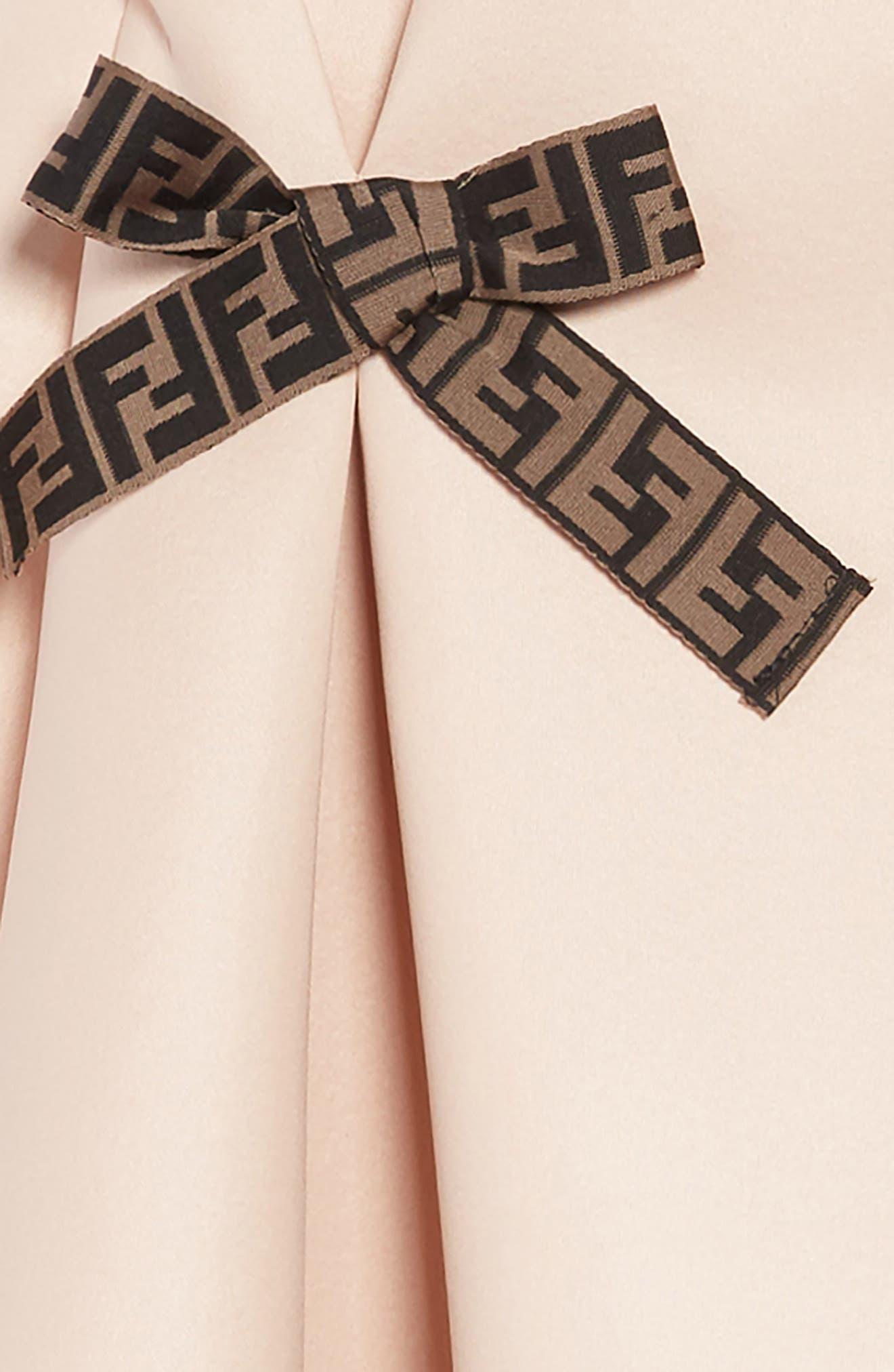 Bow Detail Dress,                             Alternate thumbnail 3, color,                             F0JE6 PEACH