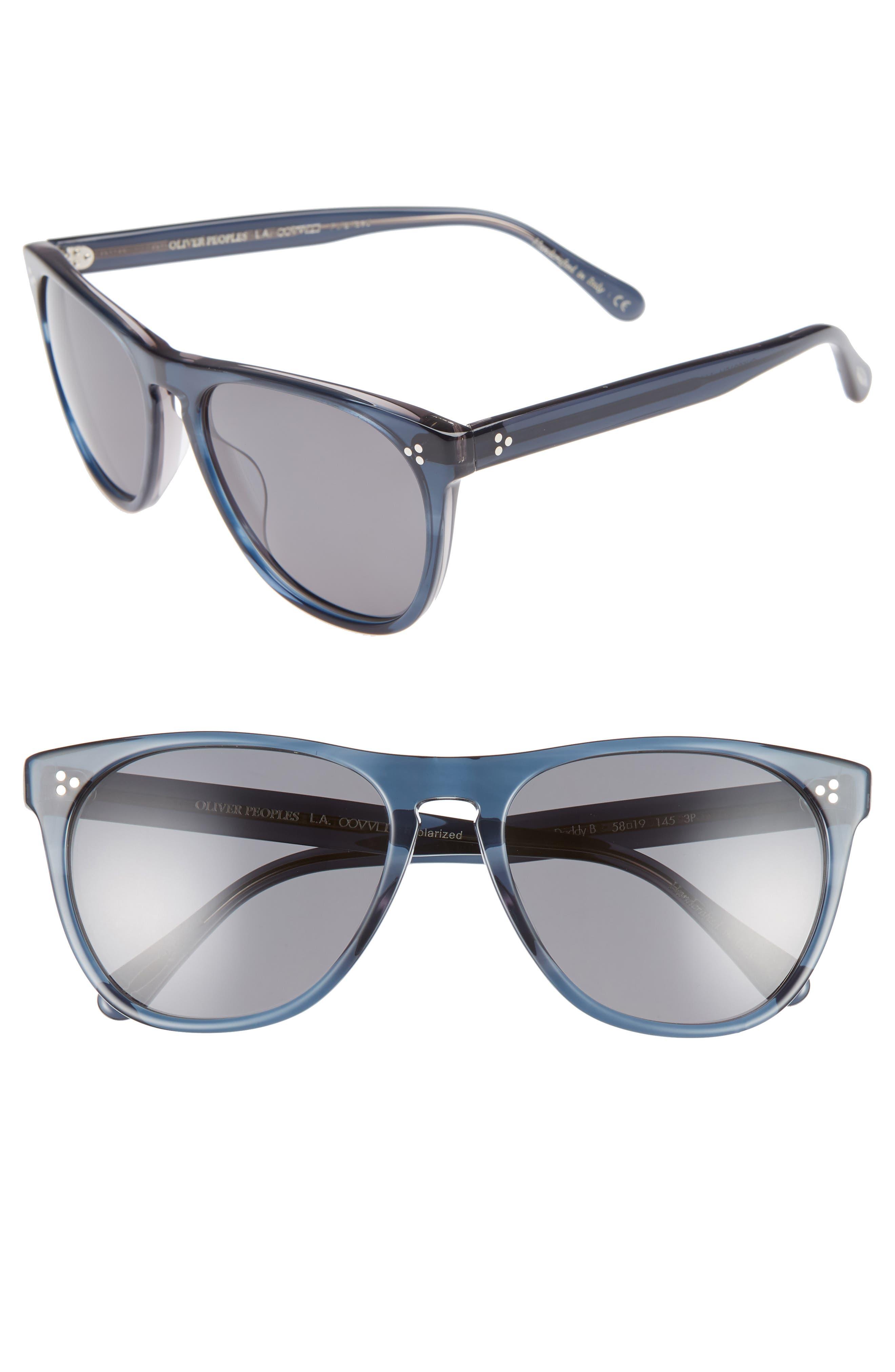 OLIVER PEOPLES Daddy B 58Mm Polarized Sunglasses - Indigo Havana