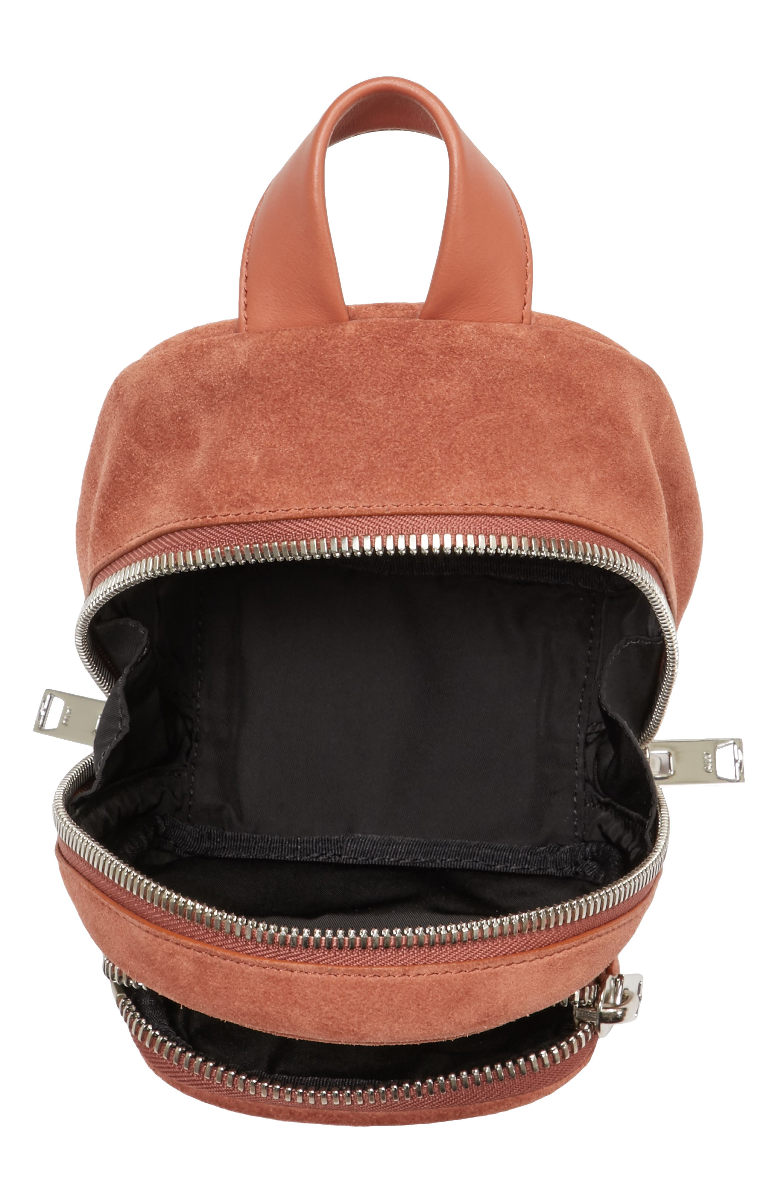 Mini Attica Suede Backpack-Shaped Crossbody Bag,                             Alternate thumbnail 4, color,                             200