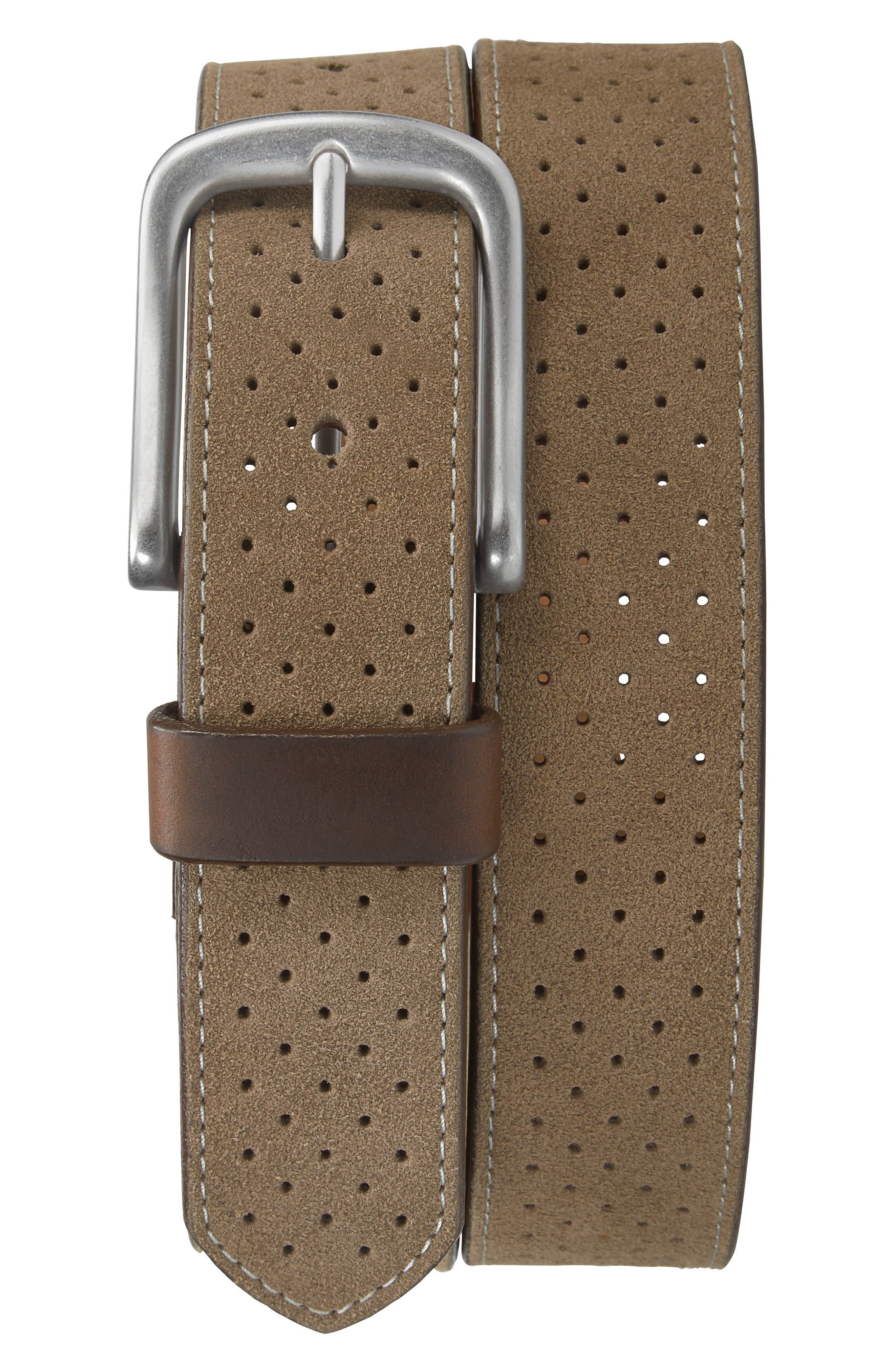 Suede Belt,                         Main,                         color, TAUPE