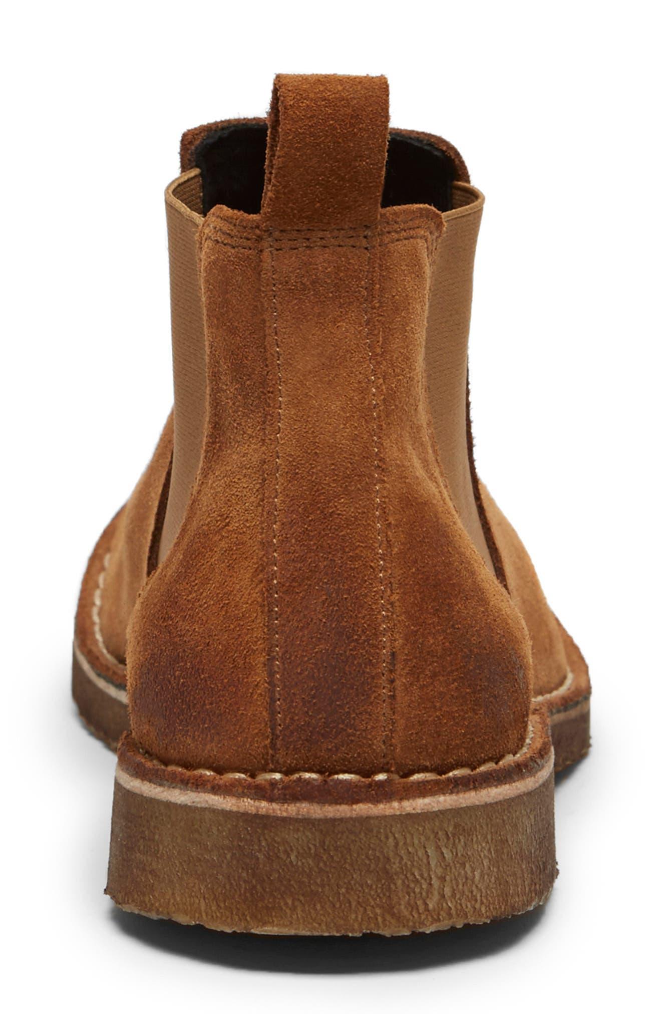 Hewitt Chelsea Boot,                             Alternate thumbnail 3, color,                             RUST SUEDE
