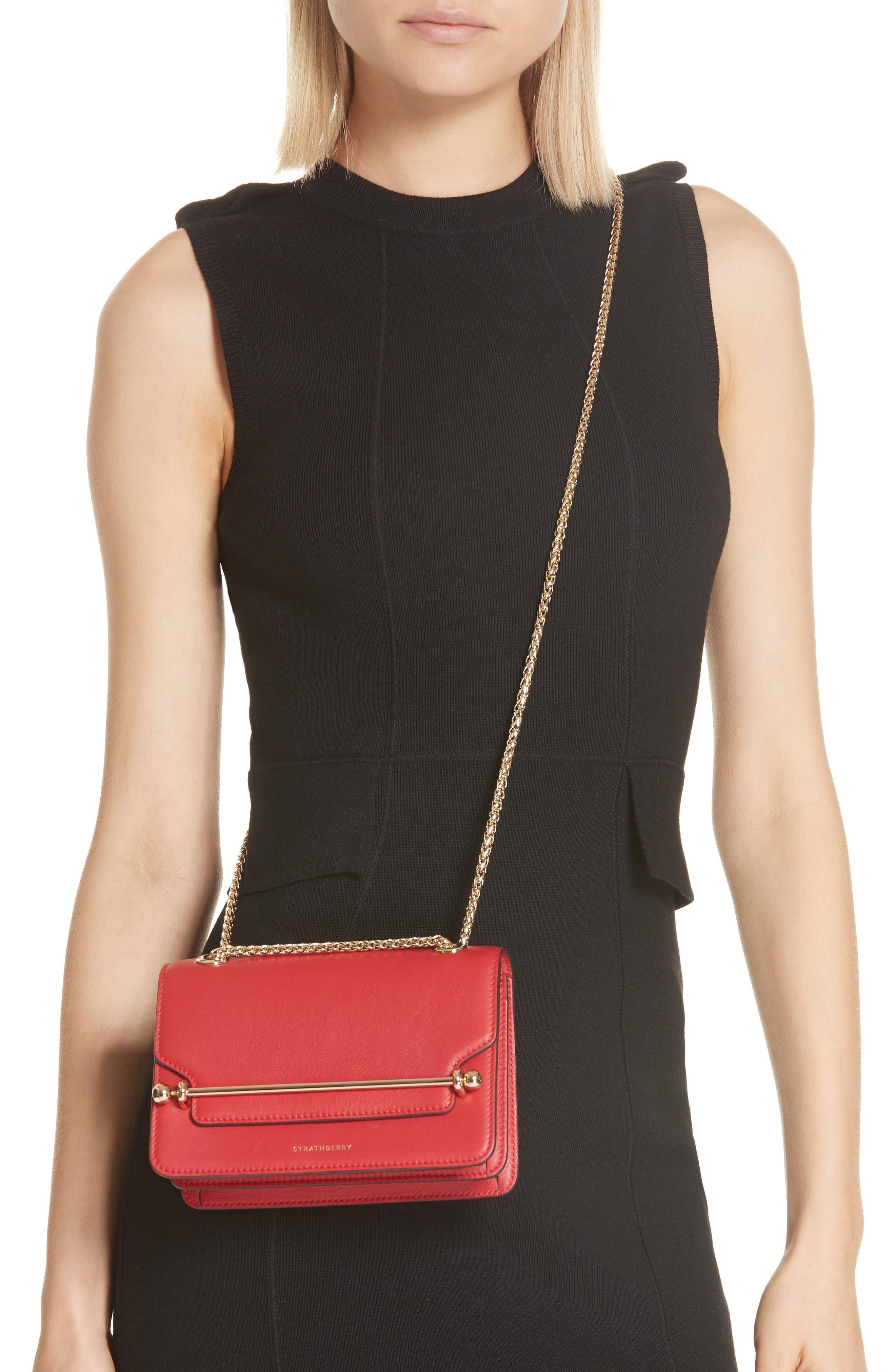 East/West Leather Crossbody Bag,                             Alternate thumbnail 9, color,
