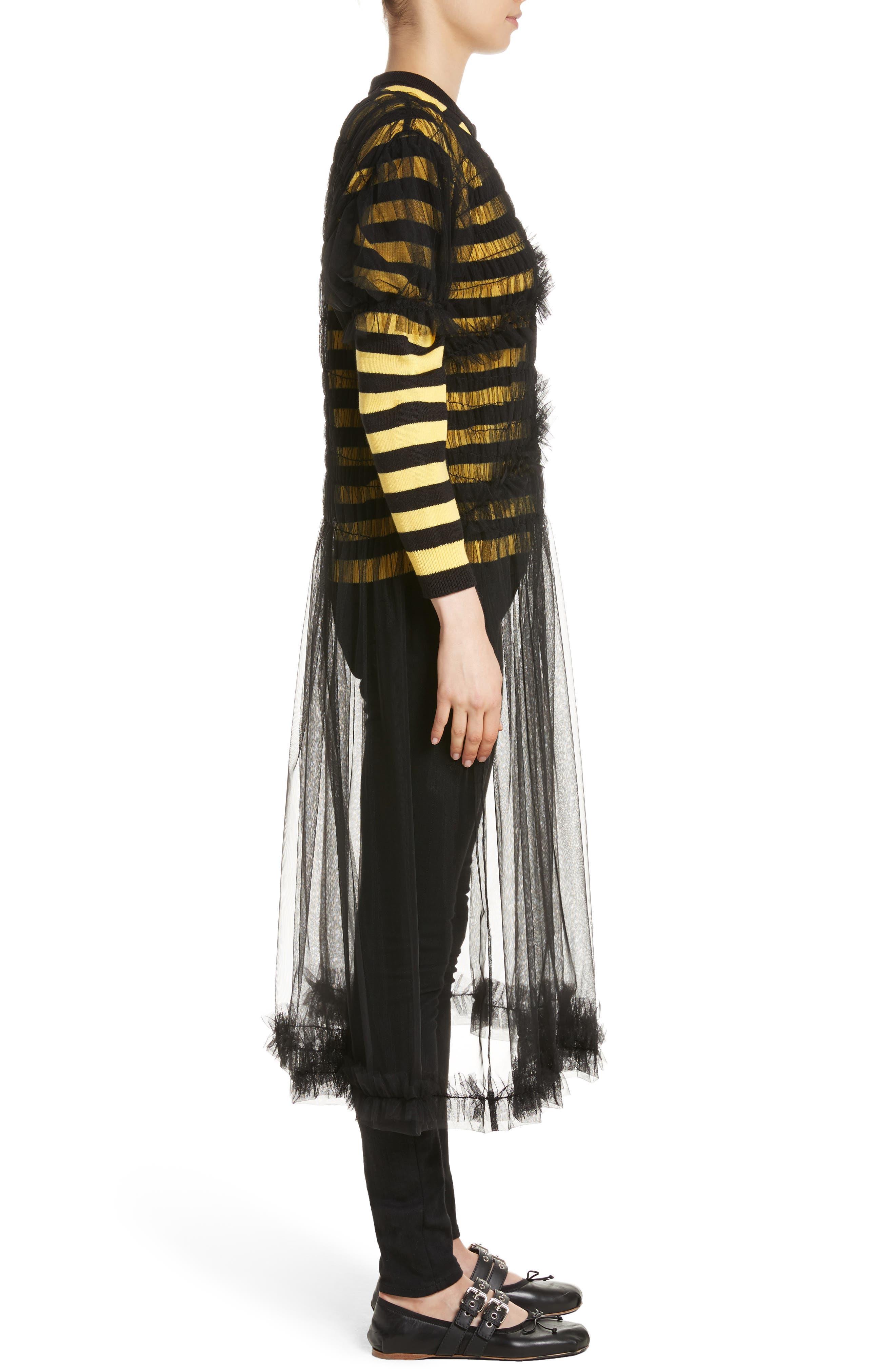 Emily Tulle Dress,                             Alternate thumbnail 3, color,