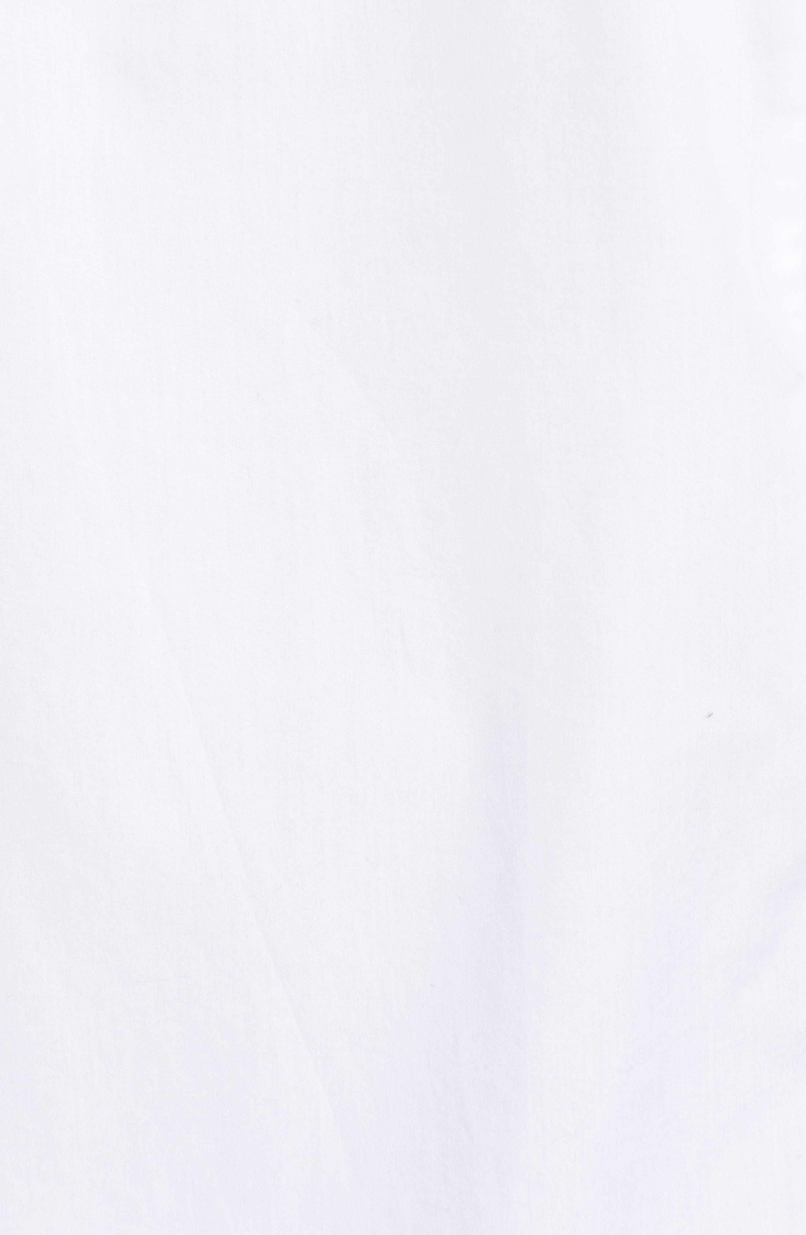 Ruffle Shoulder Shirt,                             Alternate thumbnail 5, color,                             100