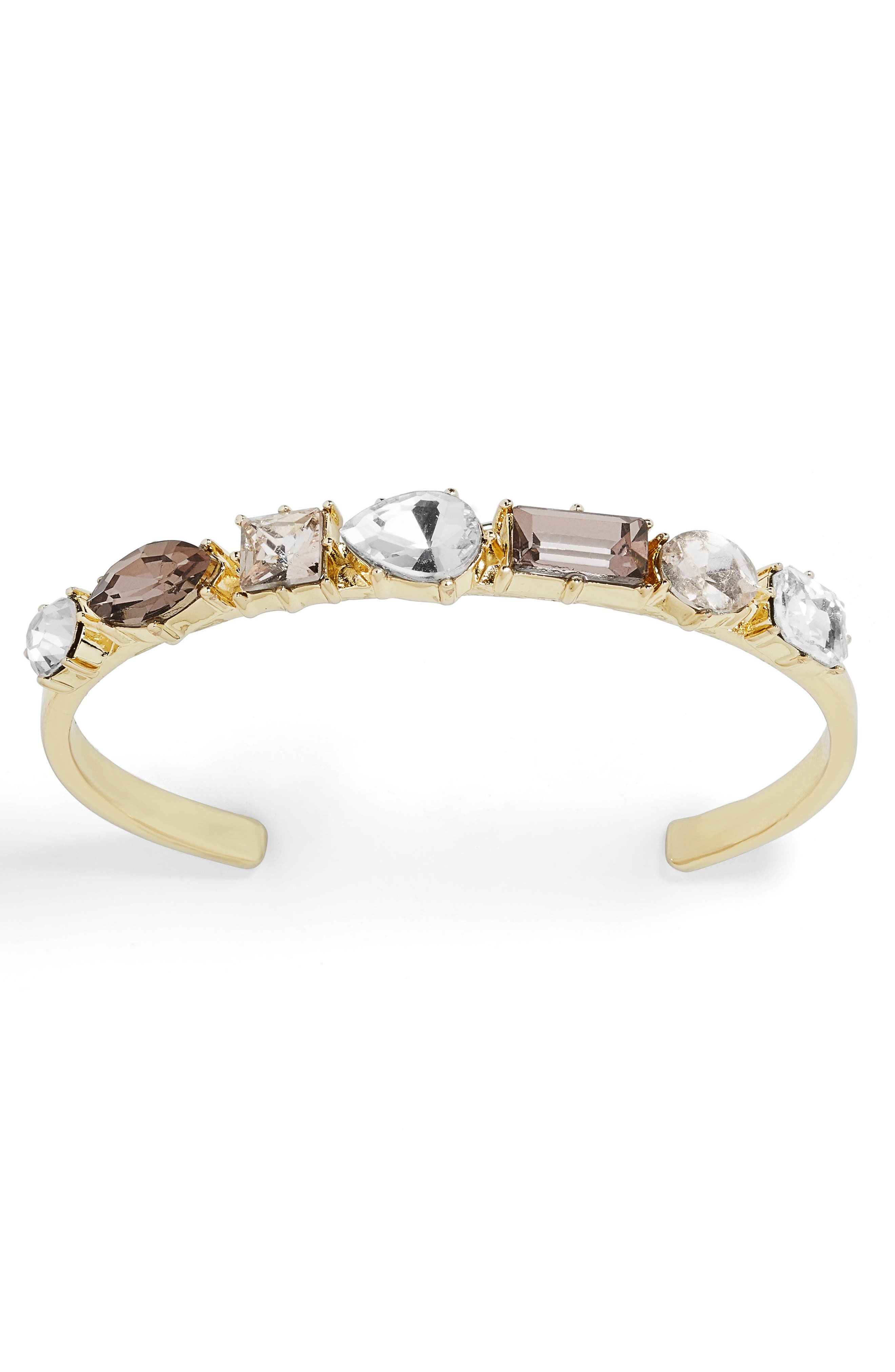 x Micaela Erlanger Coffee Date Cuff,                             Main thumbnail 1, color,                             GREY/ GOLD
