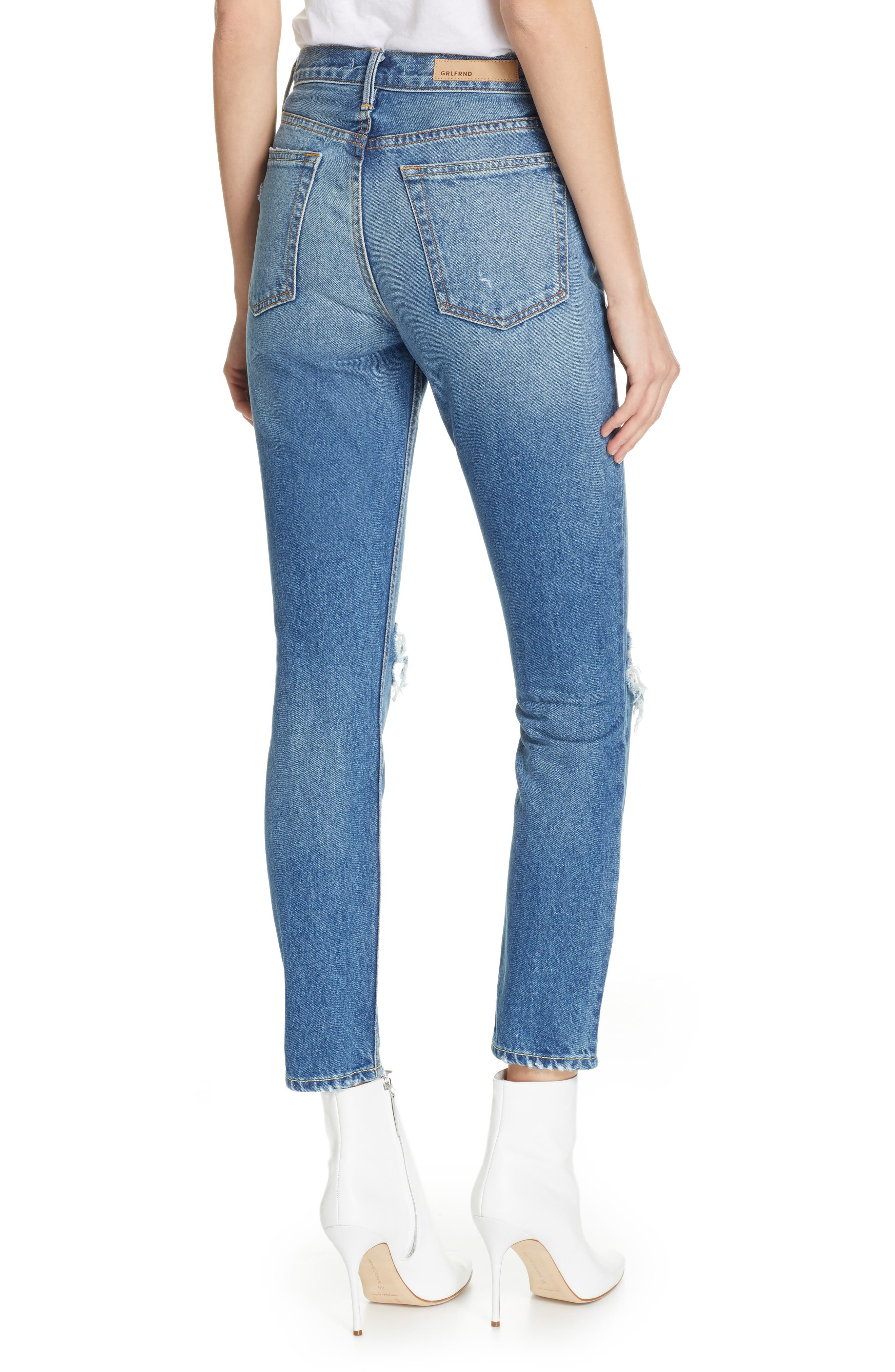 GRLFRND,                             Karolina Ripped High Waist Skinny Jeans,                             Alternate thumbnail 2, color,                             I PUT A SPELL ON YOU