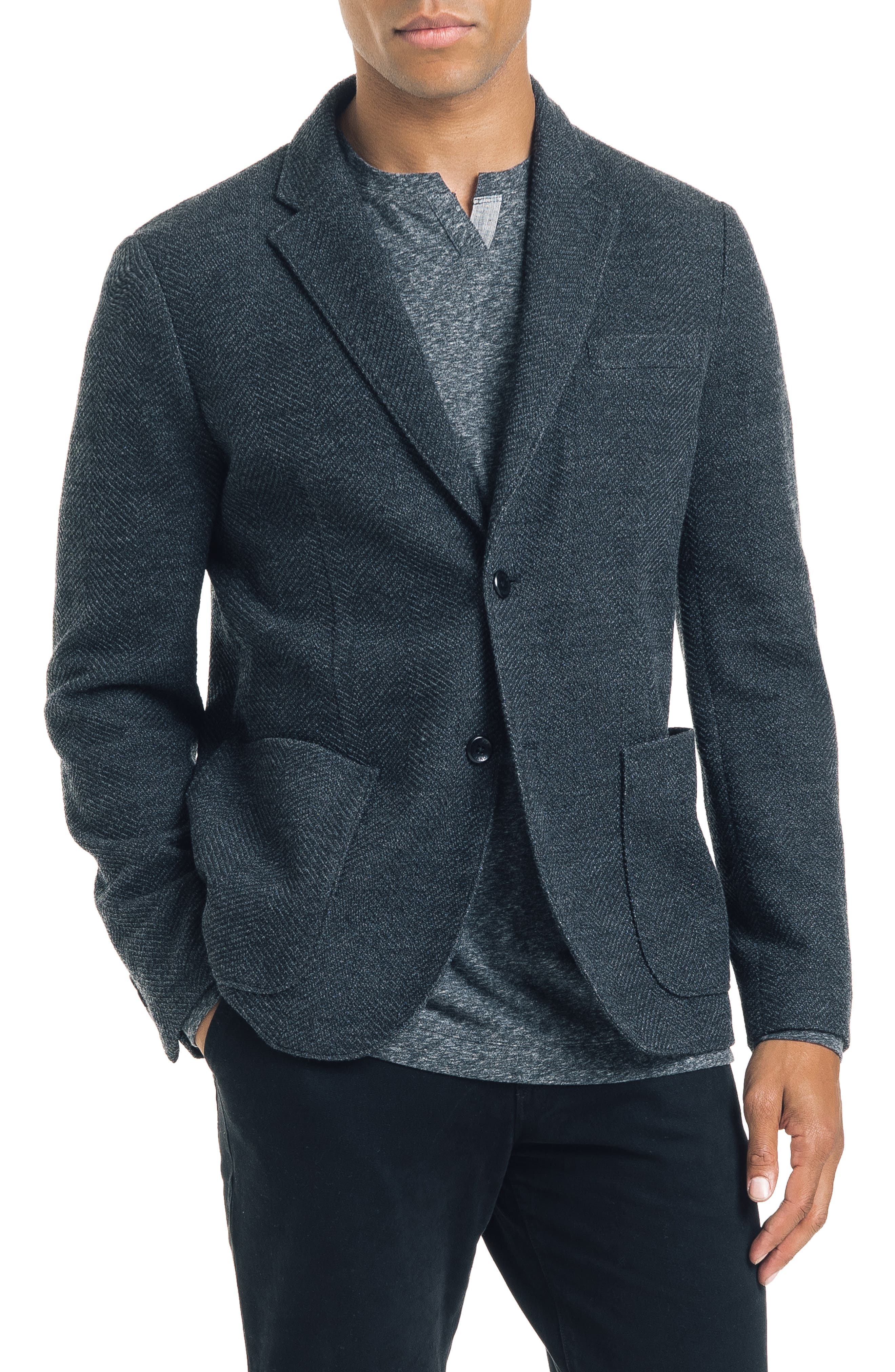 GOOD MAN BRAND Slim Fit Double Face Sport Coat in Charcoal