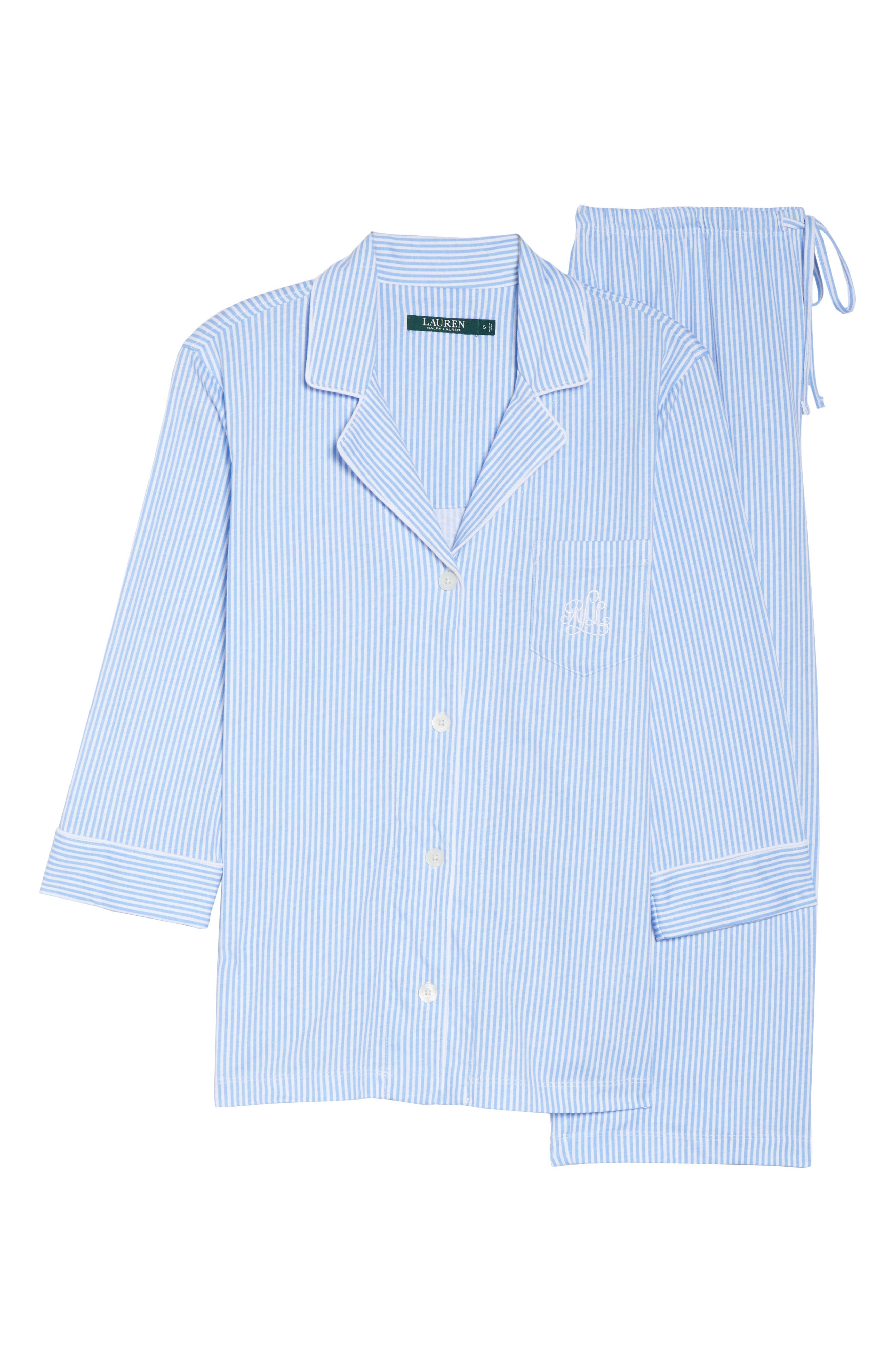 Knit Crop Pajamas,                             Alternate thumbnail 40, color,