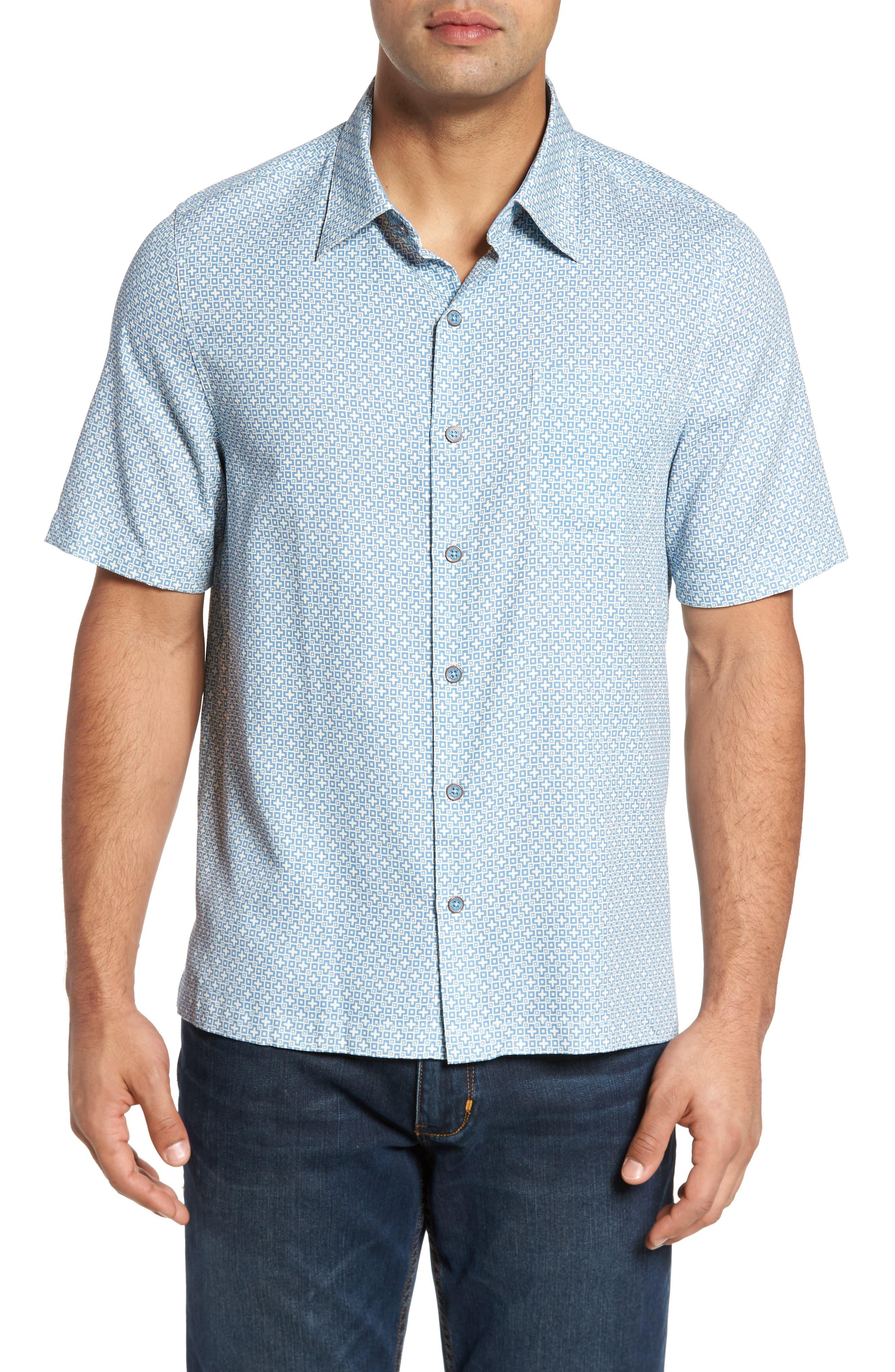 Everest Print Silk Blend Sport Shirt,                             Main thumbnail 2, color,