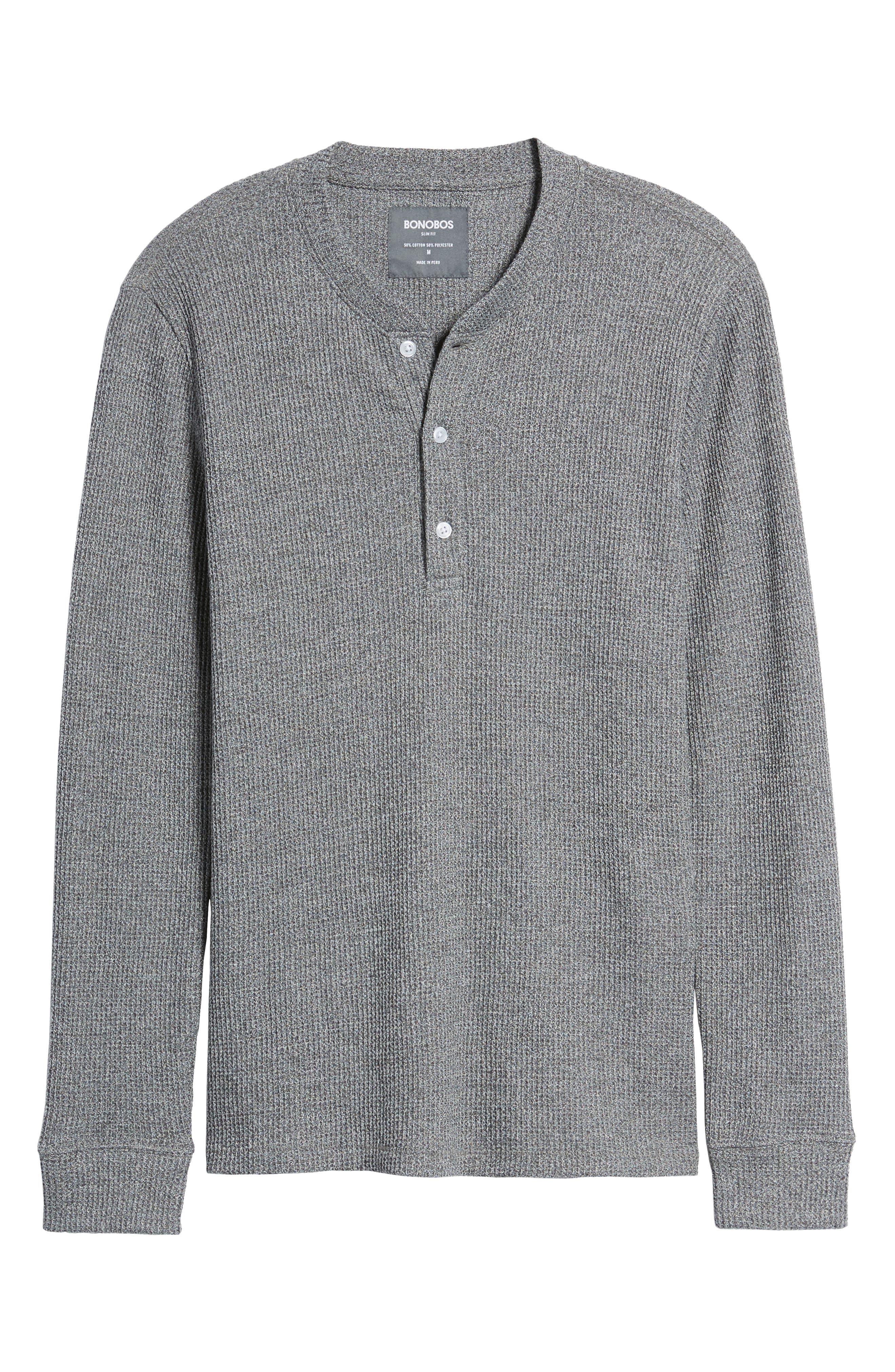 Slim Fit Long Sleeve Henley Shirt,                             Alternate thumbnail 6, color,                             200