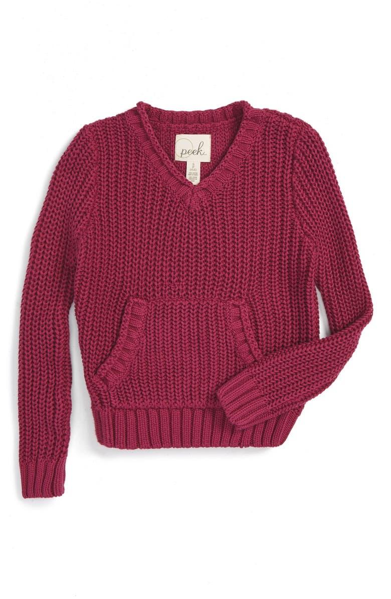cf0597fcc106 Peek  Violet  V-Neck Sweater (Toddler Girls
