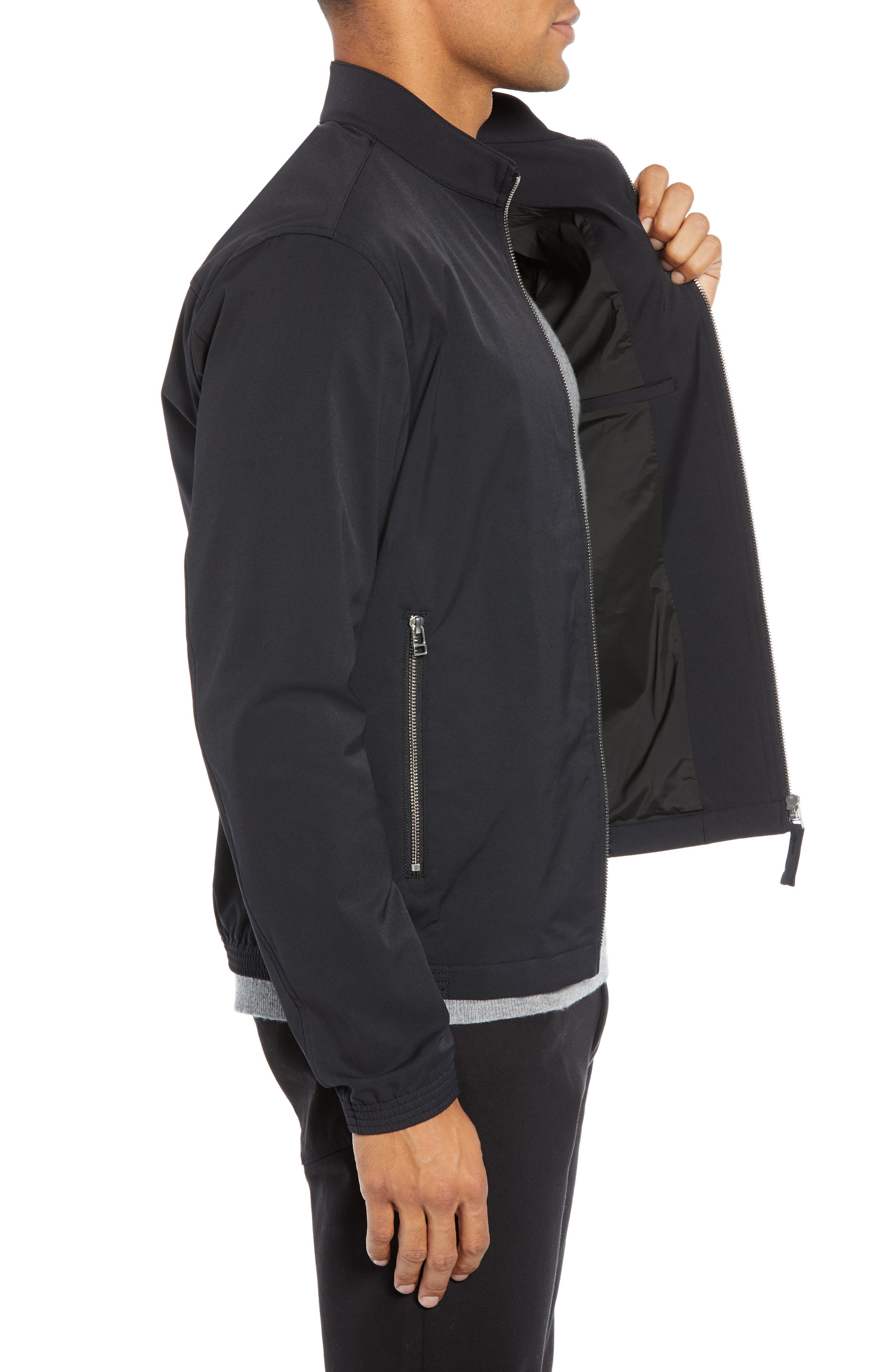 Tremont Neoteric Regular Fit Jacket,                             Alternate thumbnail 3, color,                             BLACK