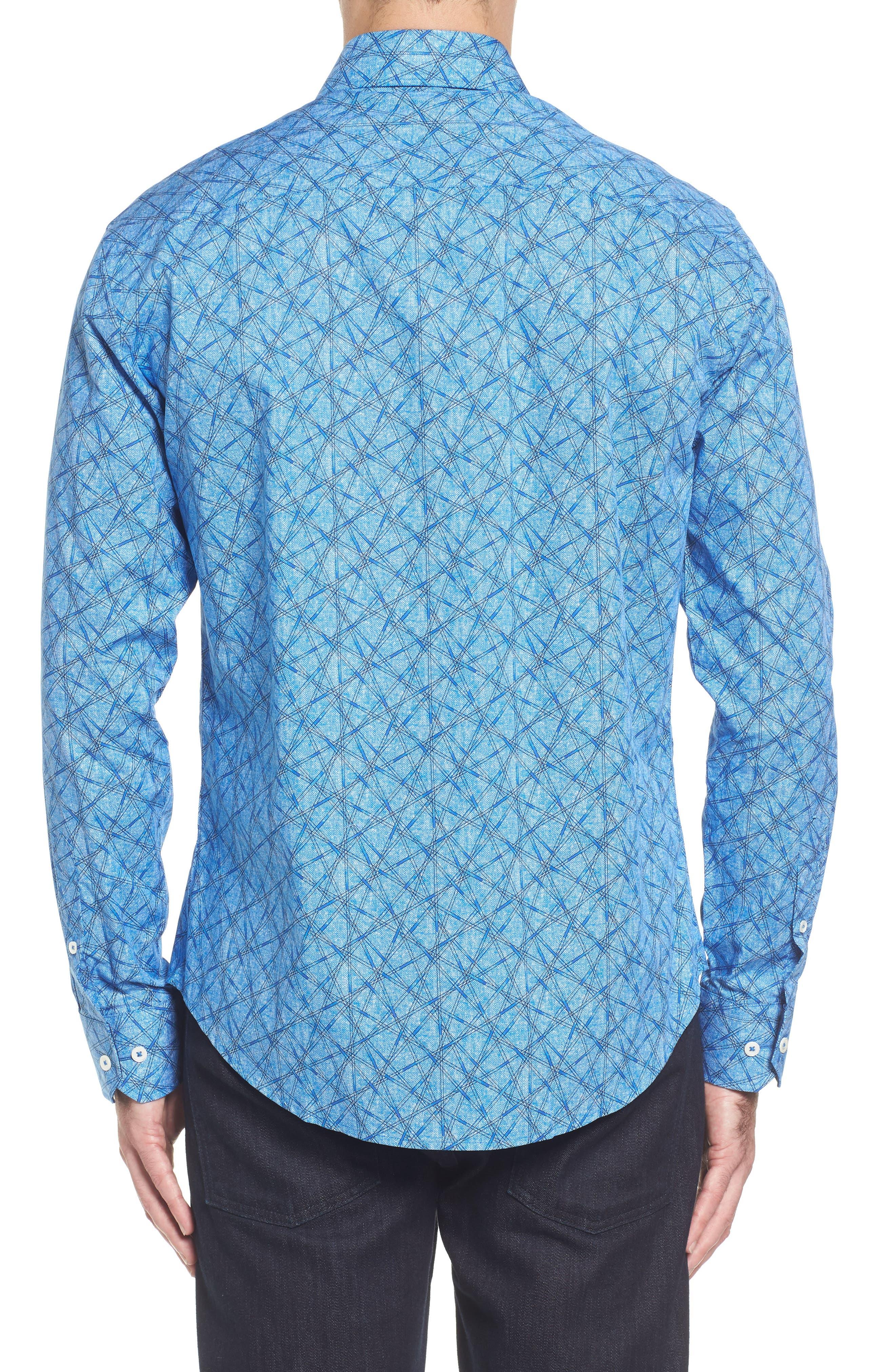 Slim Fit Abstract Print Sport Shirt,                             Alternate thumbnail 2, color,                             422