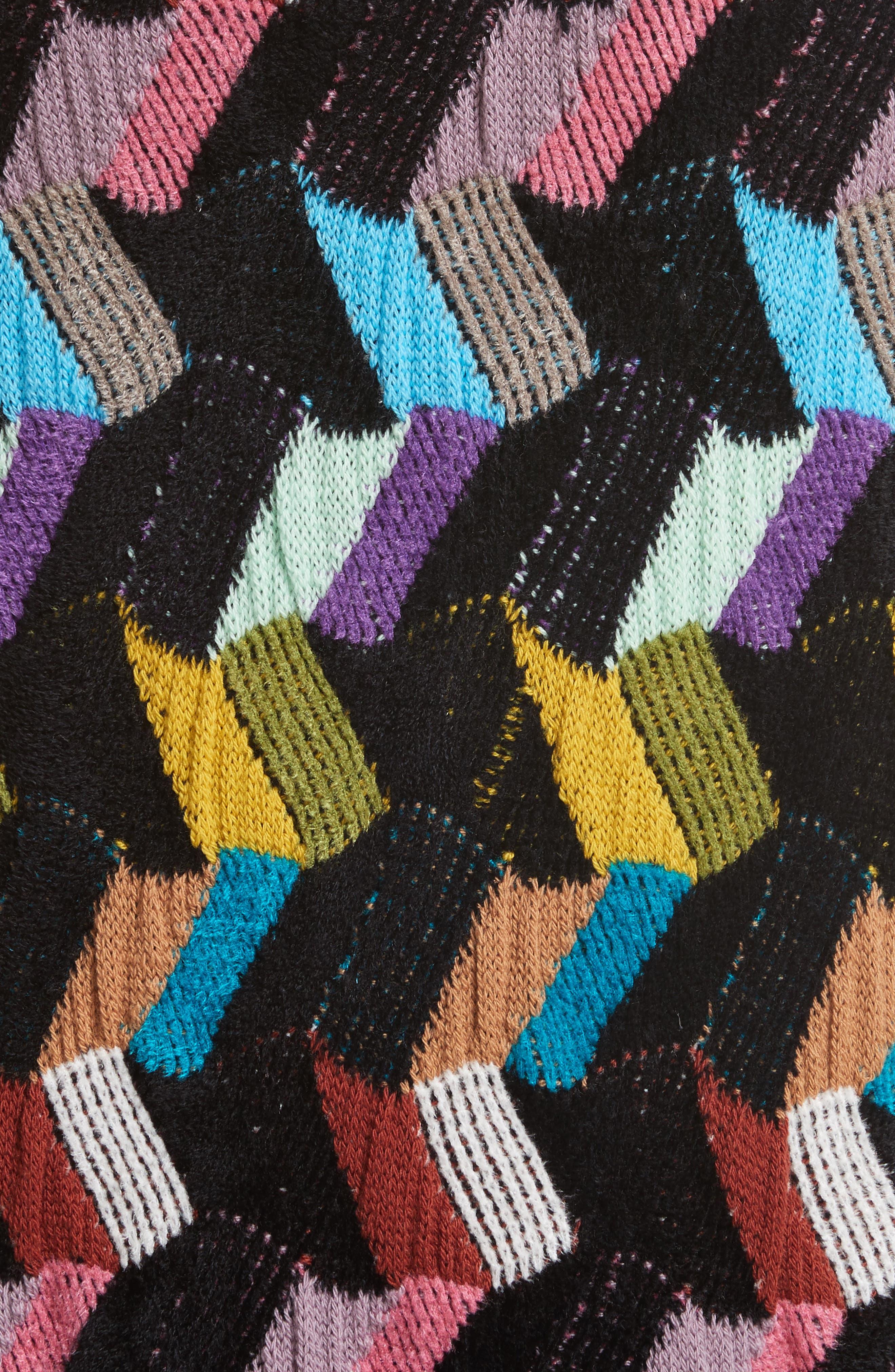 Multi Knit Pencil Skirt,                             Alternate thumbnail 5, color,                             001
