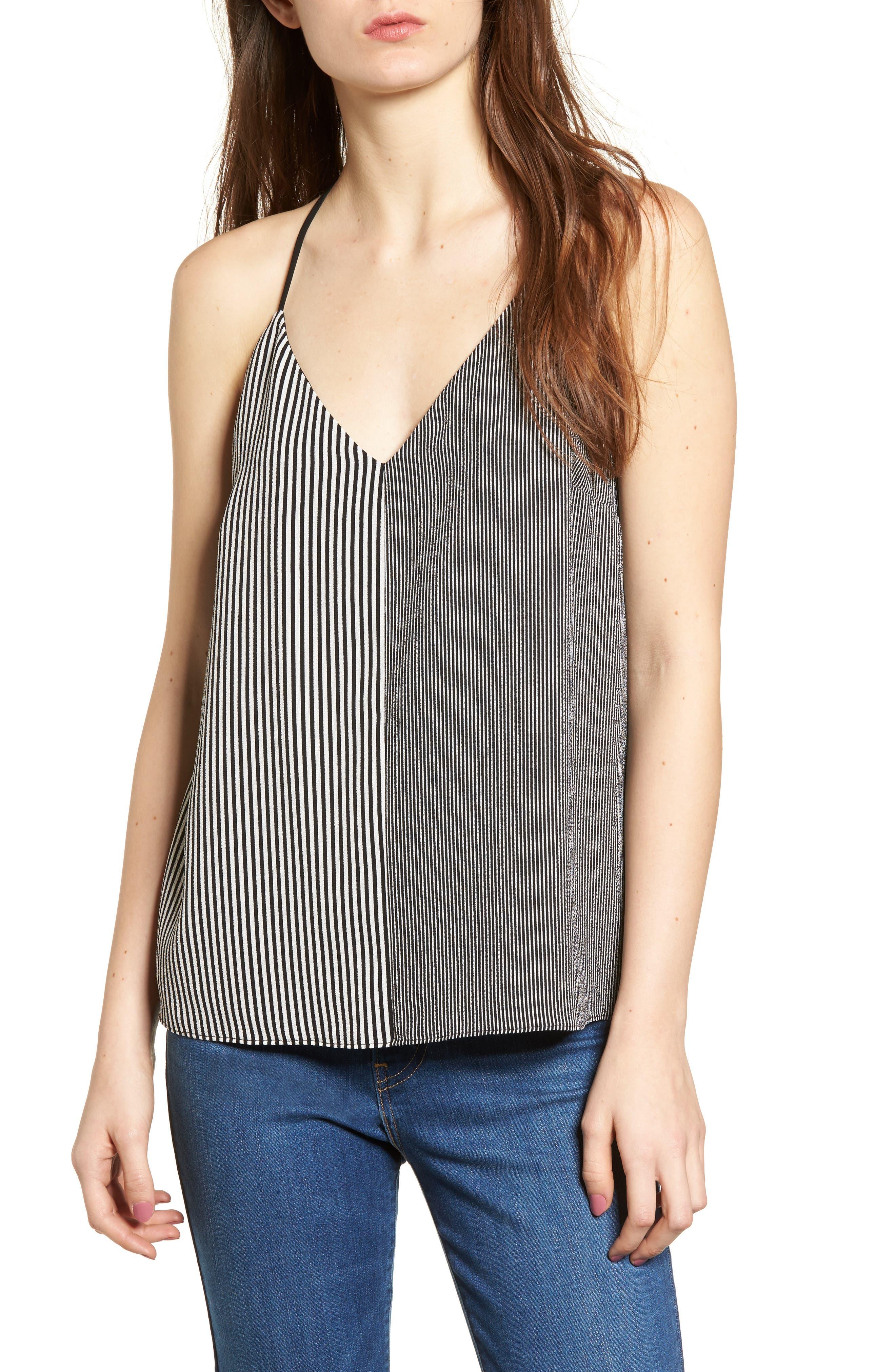 Mix Stripe Camisole,                         Main,                         color, 001