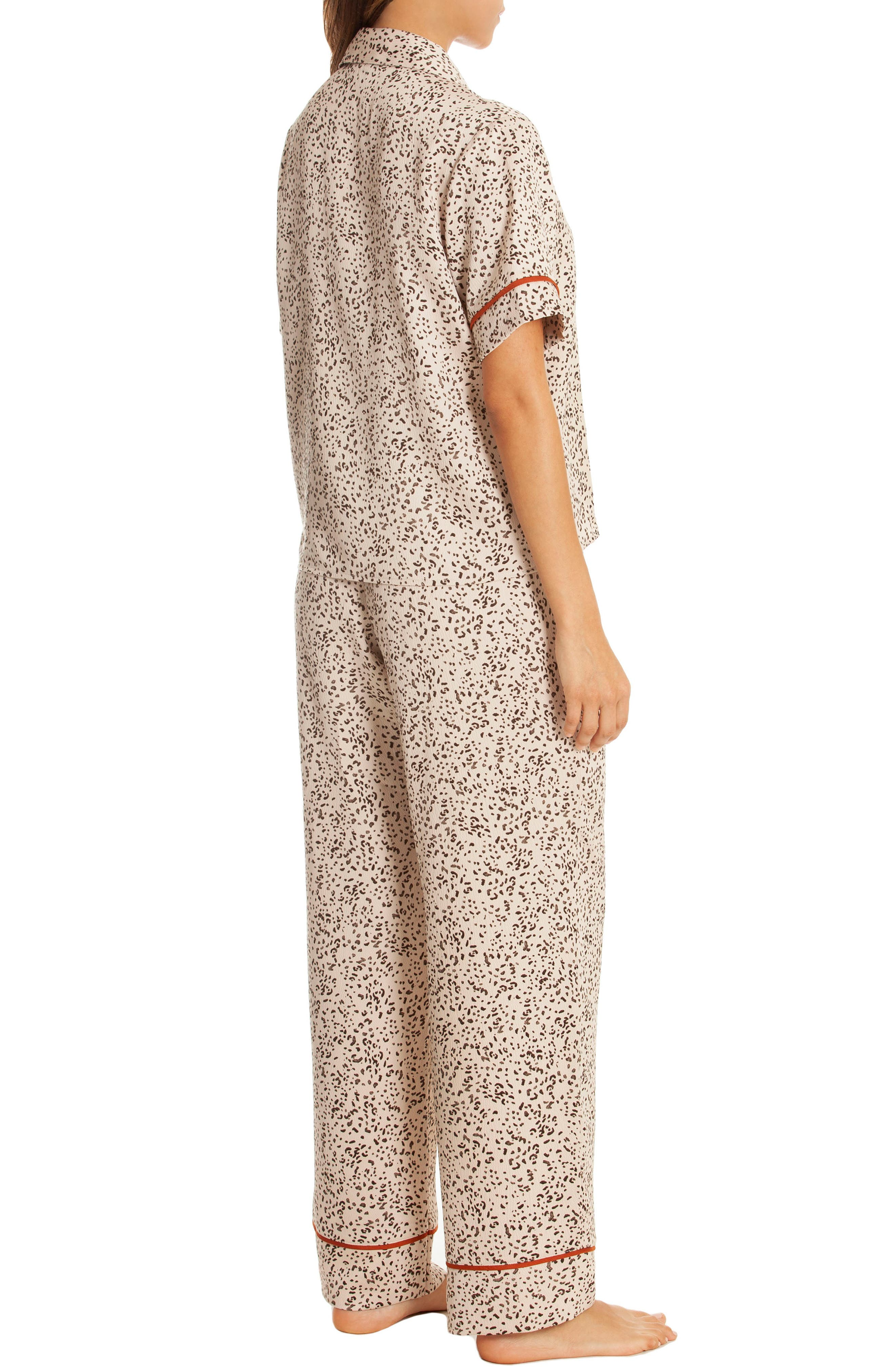 Dolce Pajamas,                             Alternate thumbnail 2, color,                             DOLCE TAUPE ANIMAL PRINT