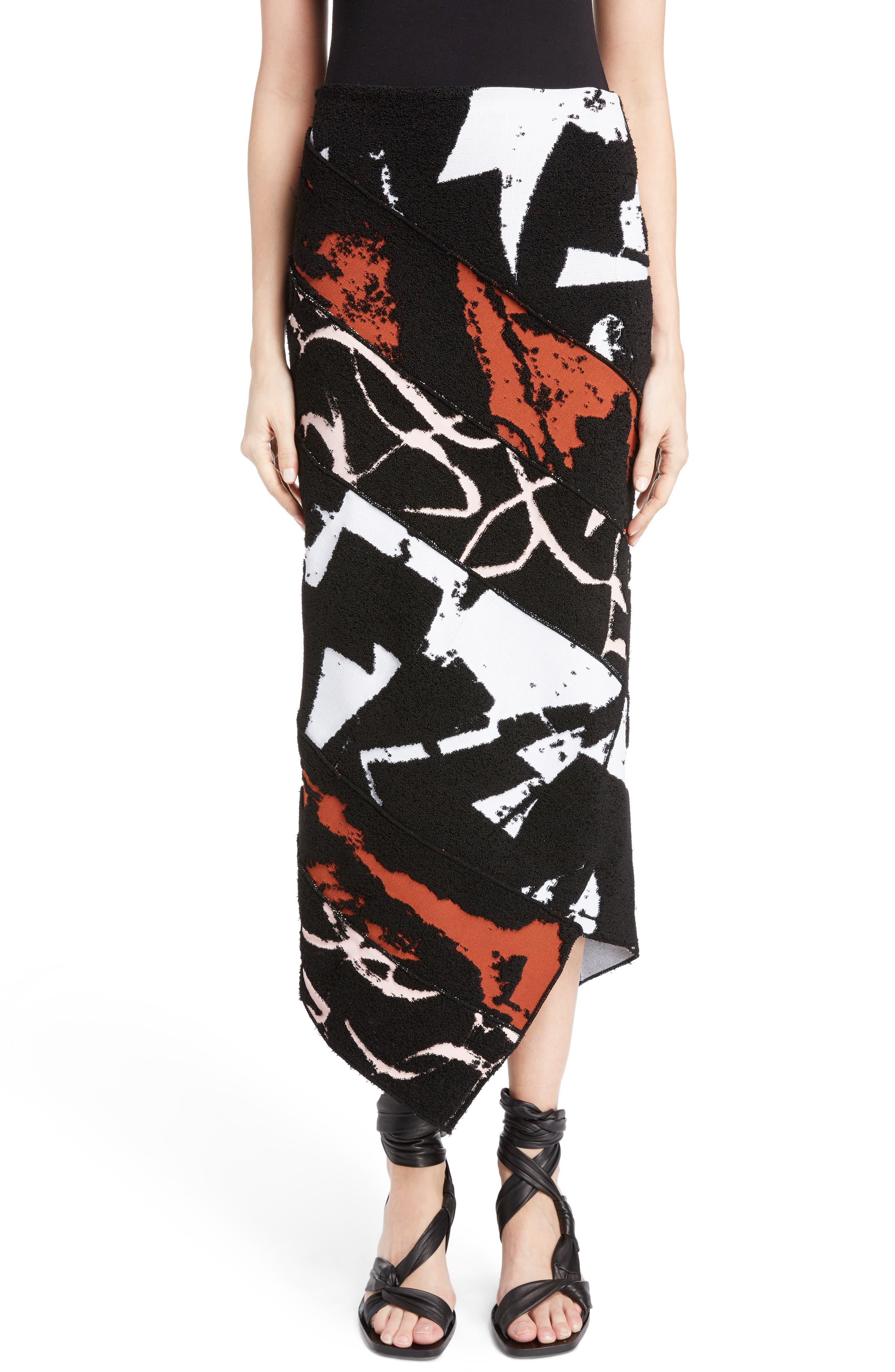 Spiral Knit Jacquard Skirt,                             Main thumbnail 1, color,                             001