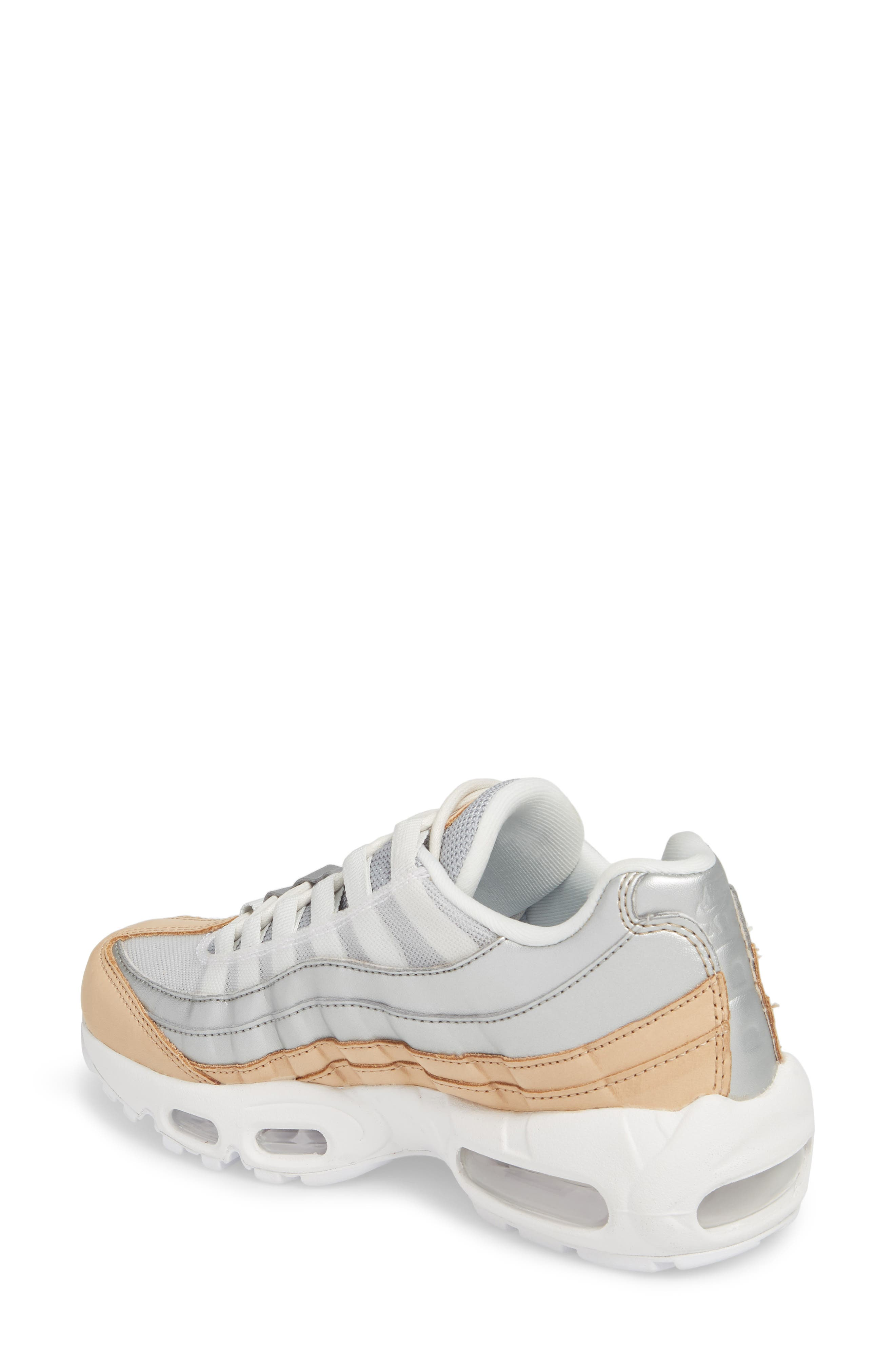 Air Max 95 Special Edition Running Shoe,                             Alternate thumbnail 2, color,                             PLATINUM/ SILVER/ WHITE