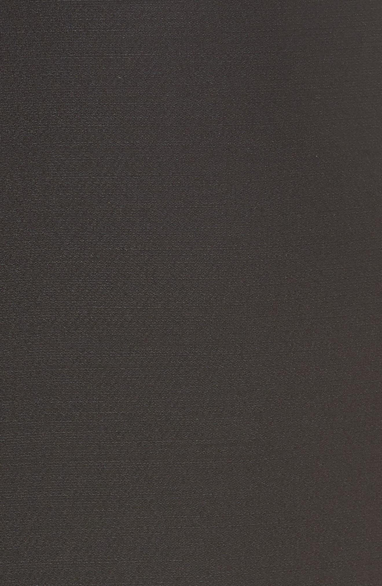 Lace Bodice Sheath Dress,                             Alternate thumbnail 5, color,                             001