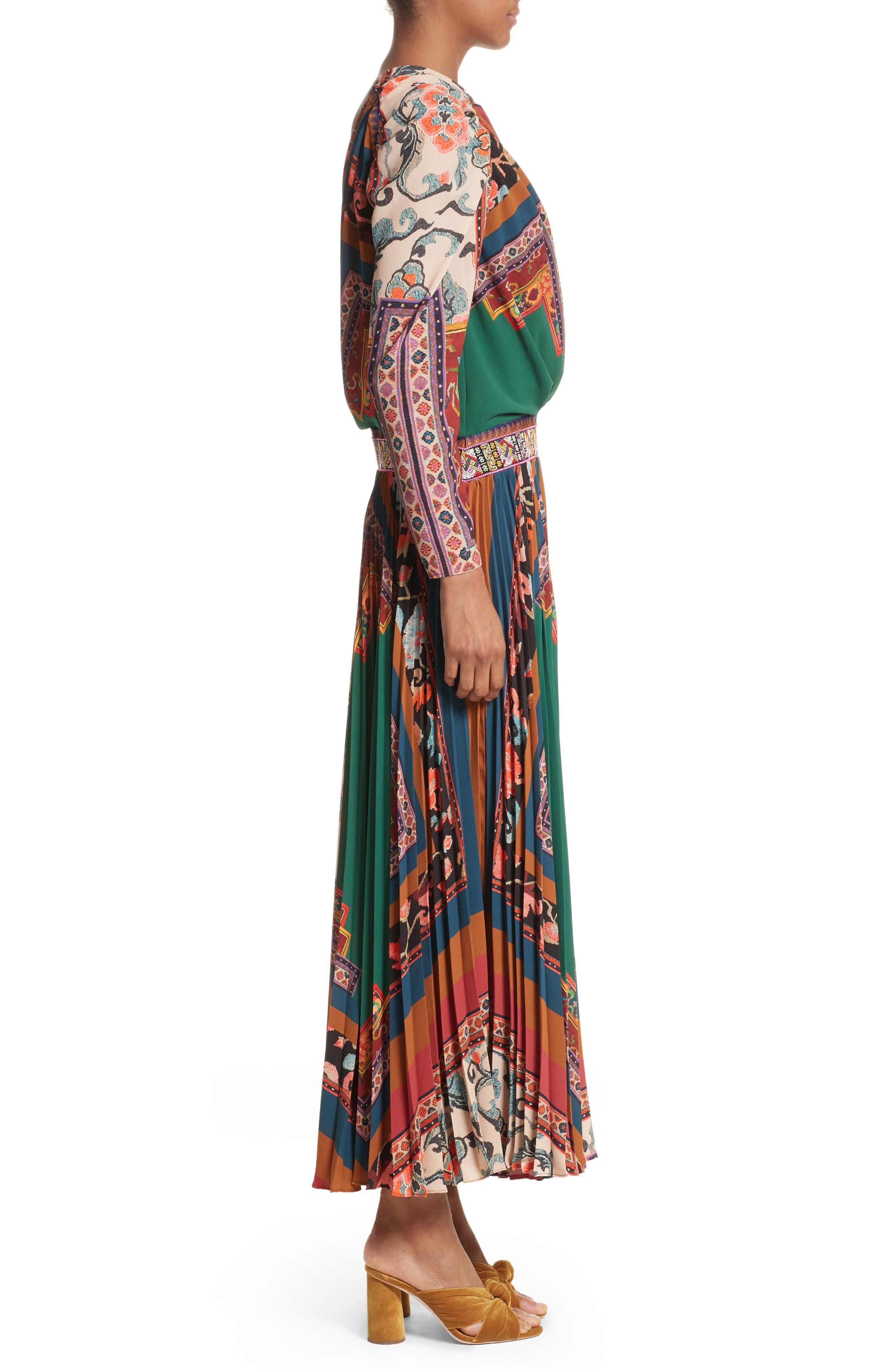 Print One-Shoulder Maxi Dress,                             Alternate thumbnail 3, color,                             300