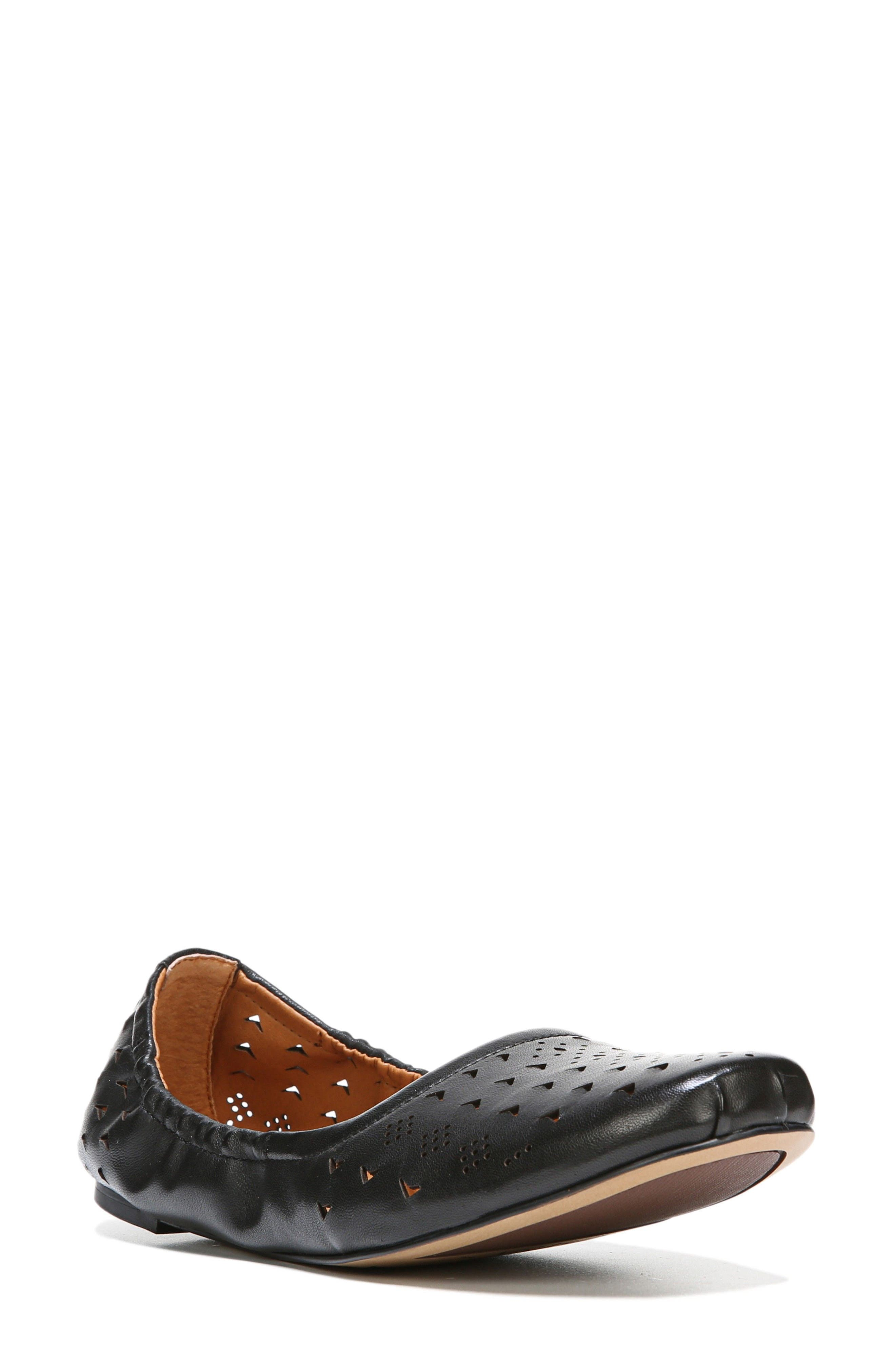 Brewer Perforated Ballet Flat,                             Main thumbnail 1, color,                             001