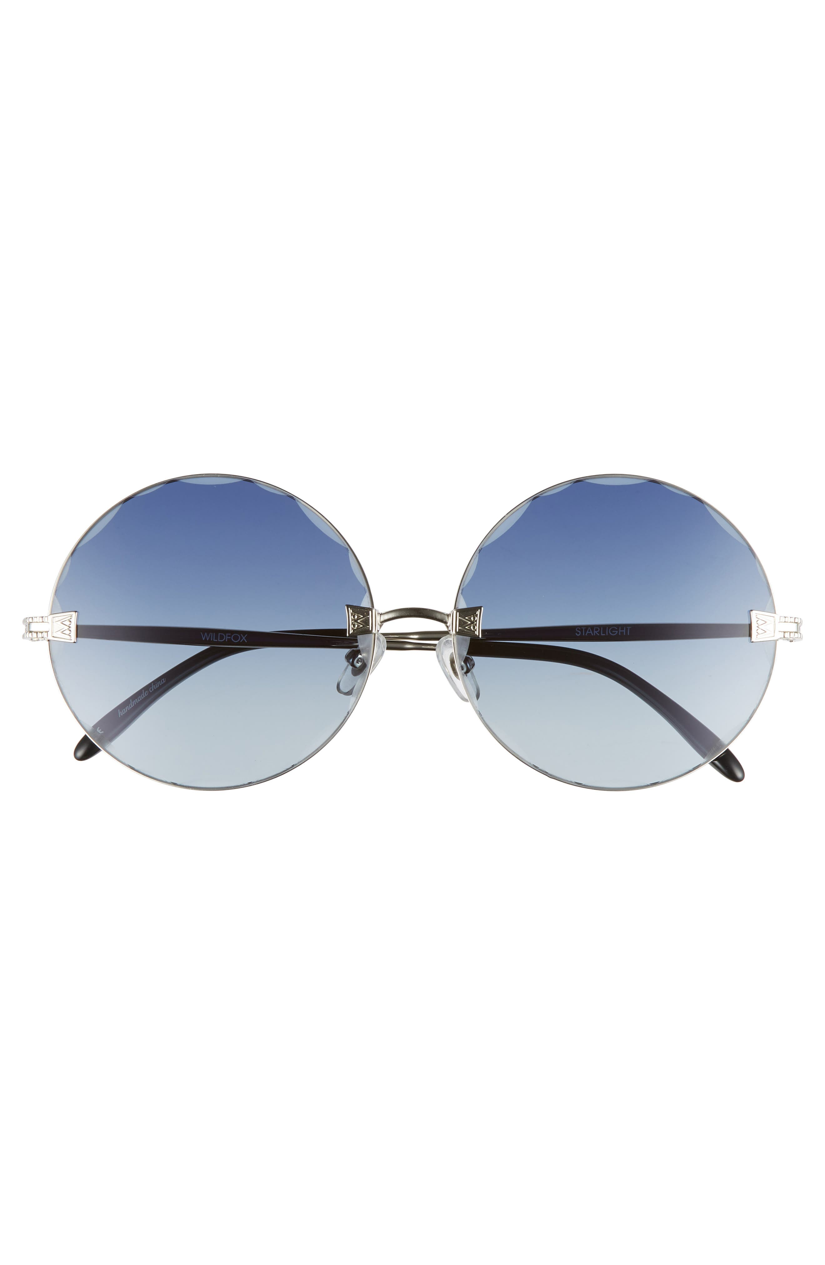Starlight 62mm Oversize Round Sunglasses,                             Alternate thumbnail 3, color,                             040