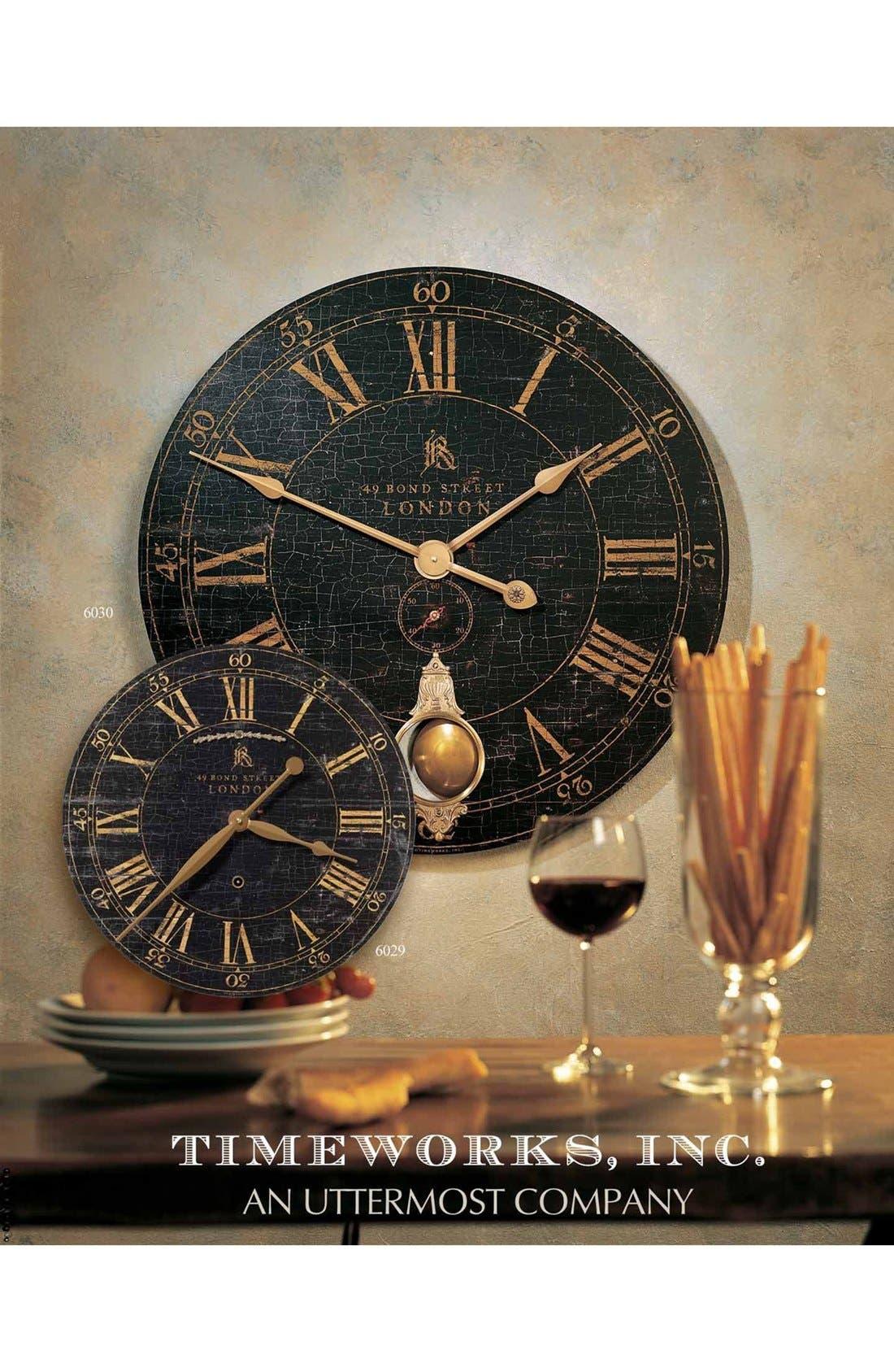 'Bond Street' Wall Clock,                             Alternate thumbnail 2, color,