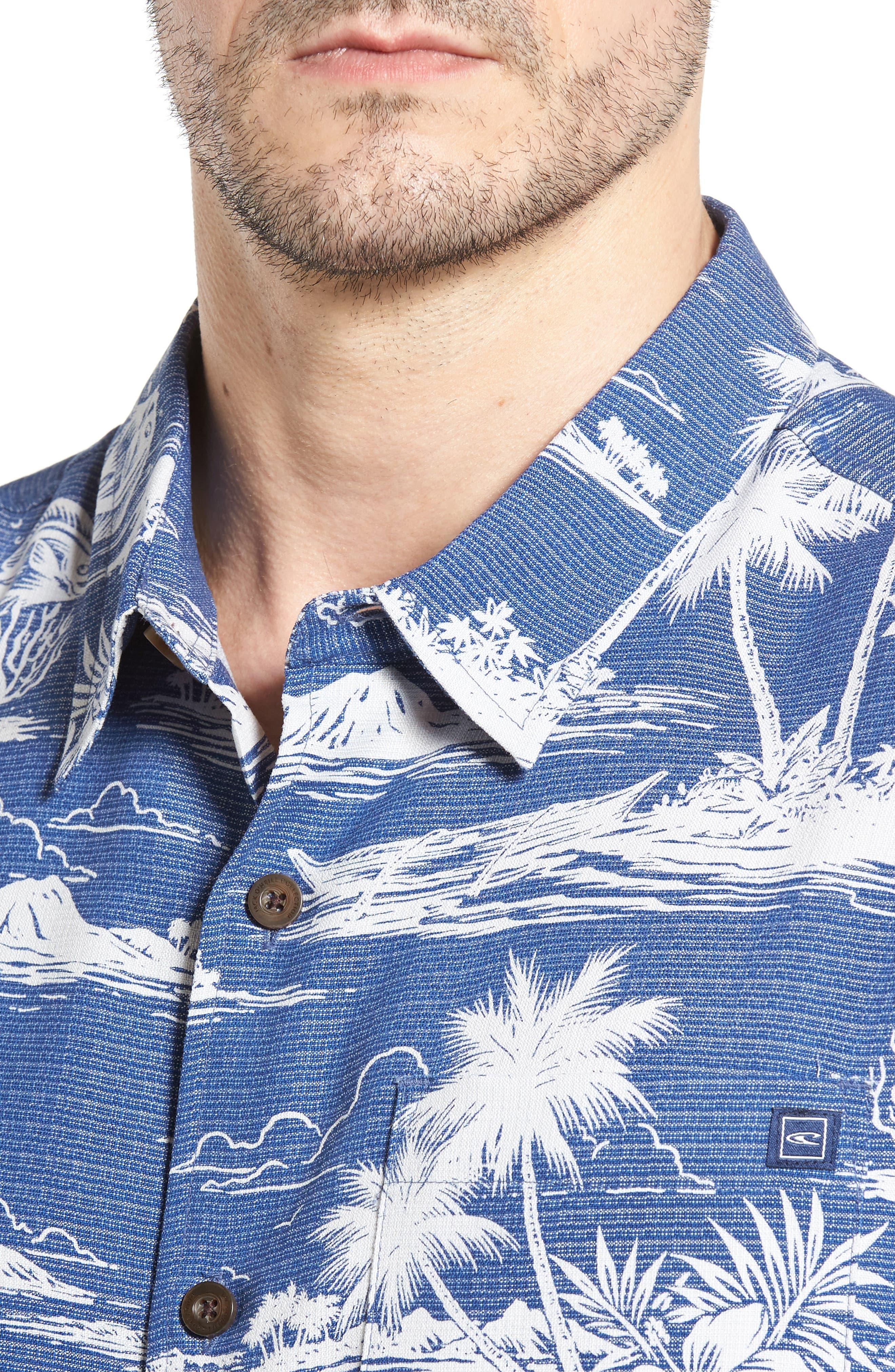 JACK O'NEILL,                             Waimea Regular Fit Print Camp Shirt,                             Alternate thumbnail 4, color,                             400