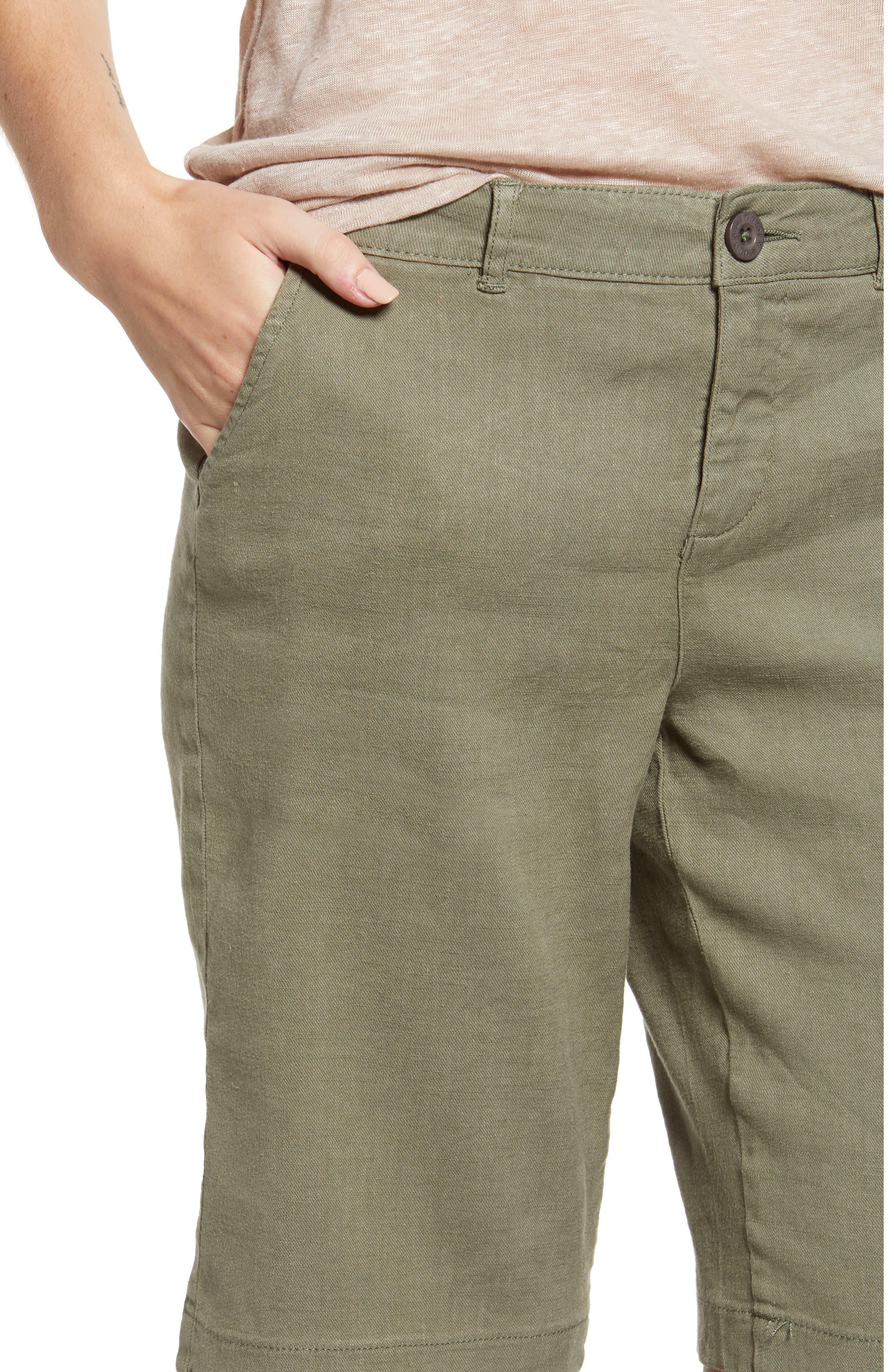 Stretch Linen Blend Bermuda Shorts,                             Alternate thumbnail 12, color,