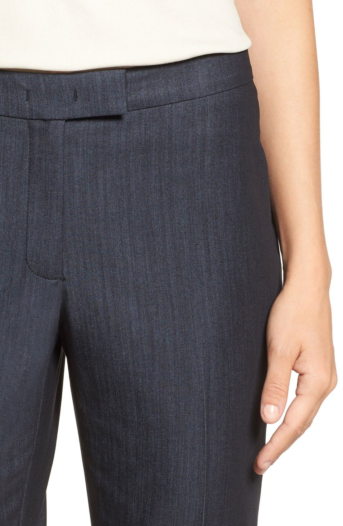Slim Stretch Denim Suit Pants,                             Alternate thumbnail 3, color,                             INDIGO TWILL