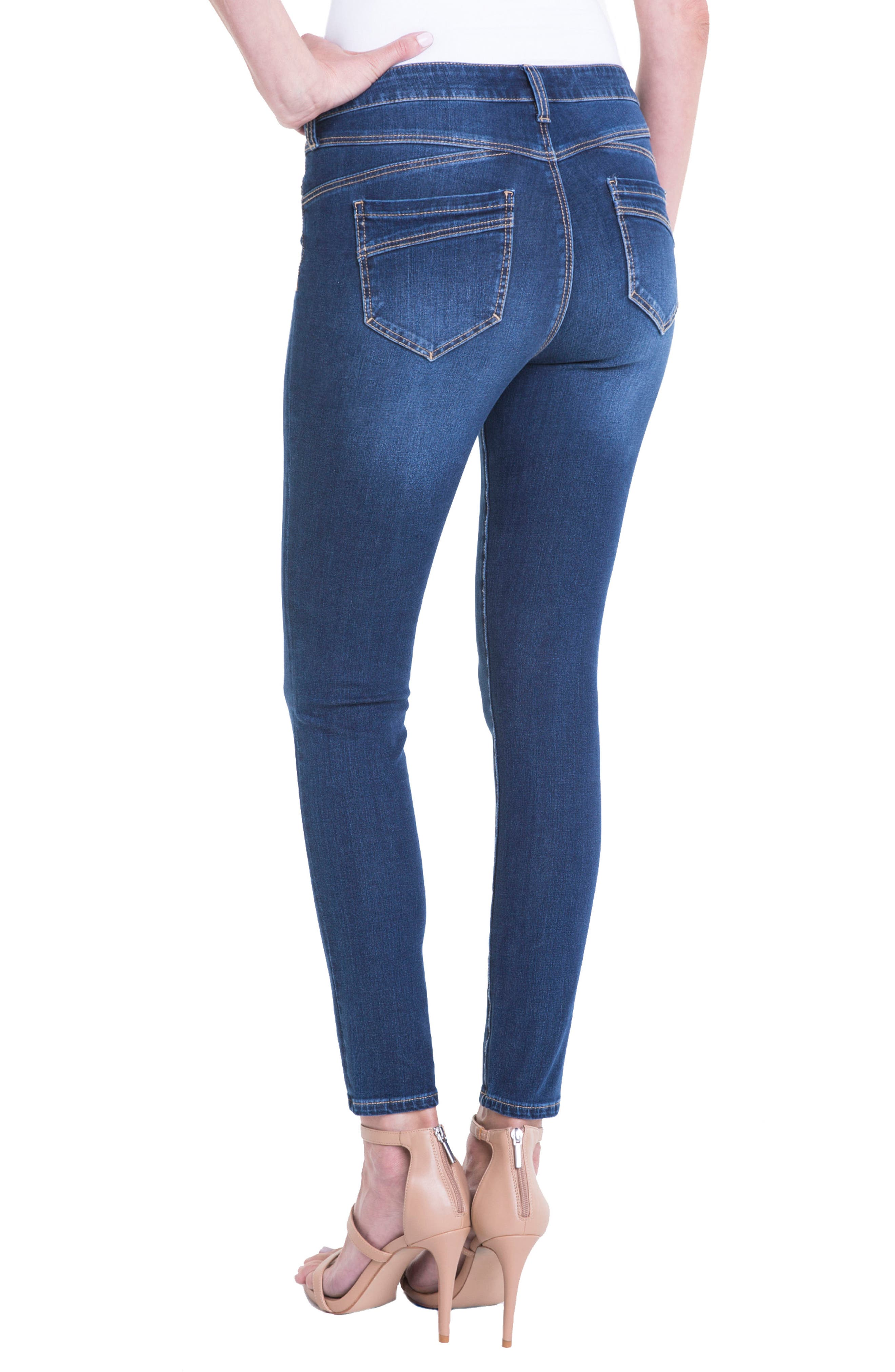 Jeans Company Piper Hugger Lift Sculpt Ankle Skinny Jeans,                             Alternate thumbnail 4, color,