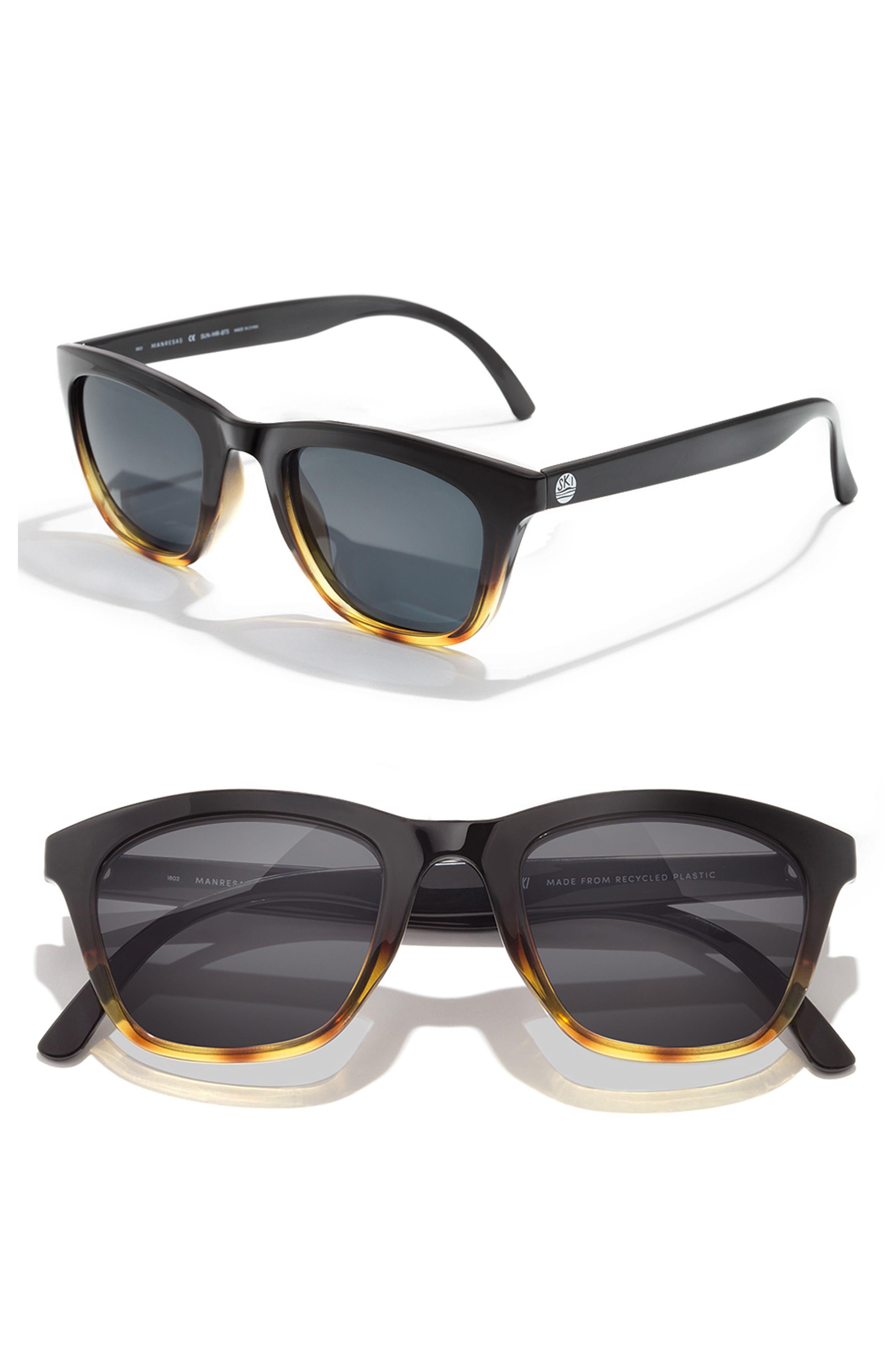 Manresa 49mm Polarized Sunglasses, Main, color, BLACK TORTOISE SLATE