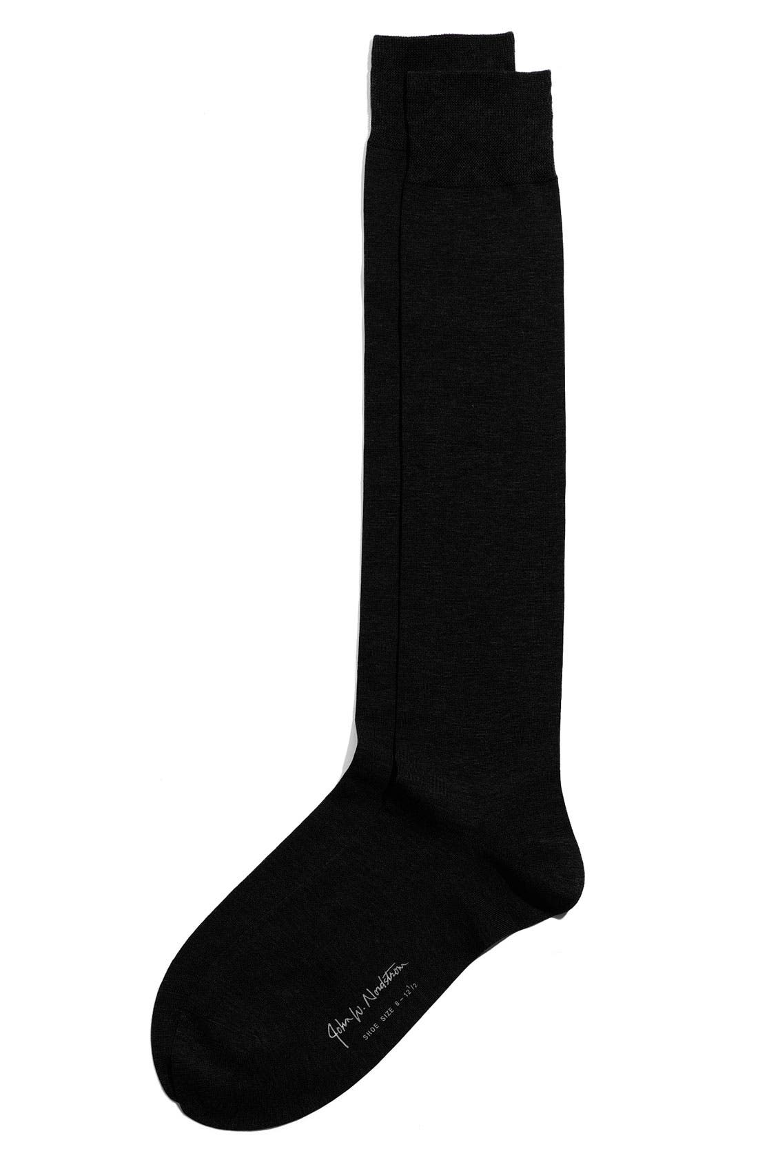Over the Calf Egyptian Cotton Blend Socks,                             Main thumbnail 1, color,                             001