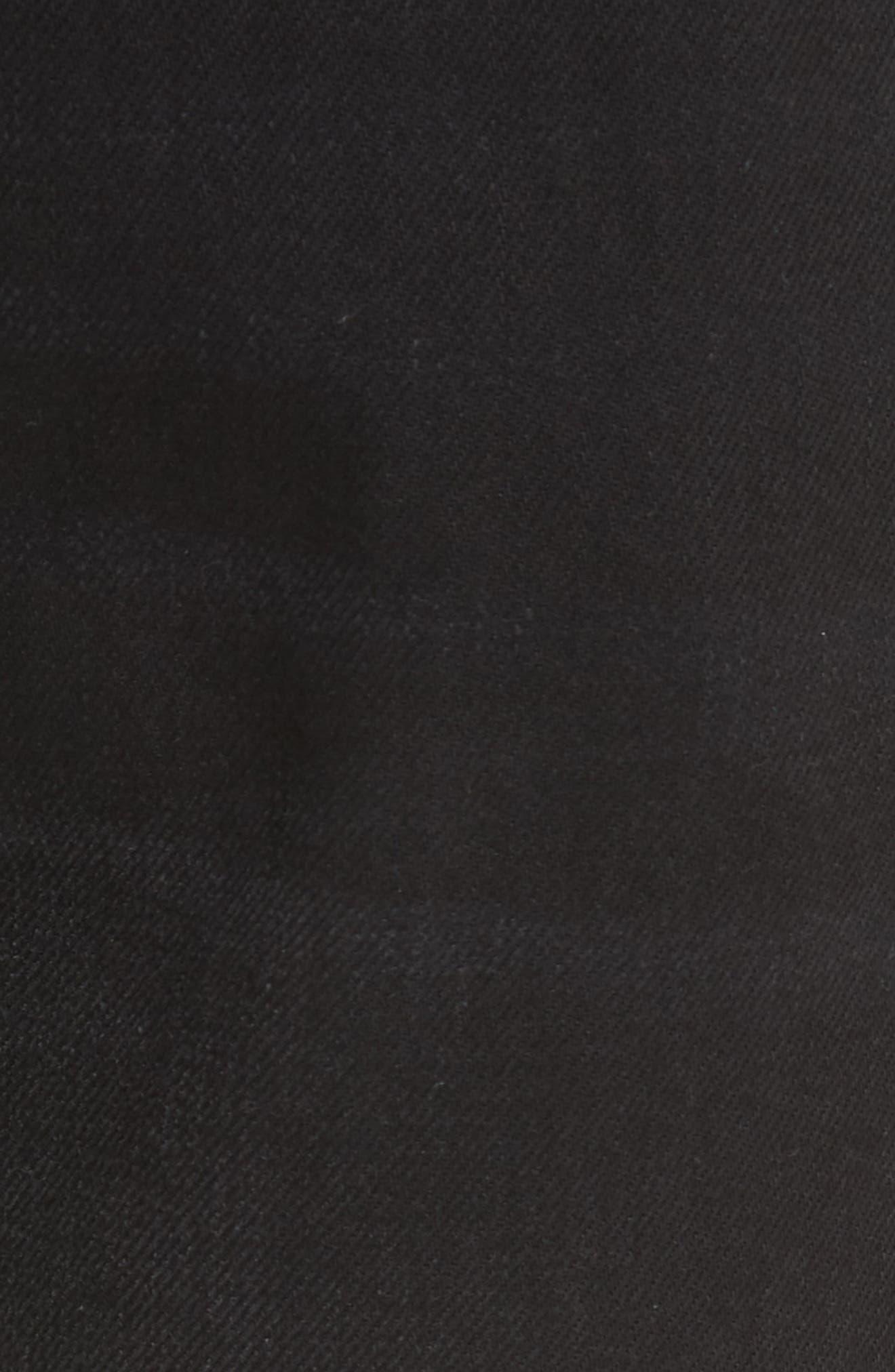 Le Original Released Hem High Waist Jeans,                             Alternate thumbnail 5, color,                             001