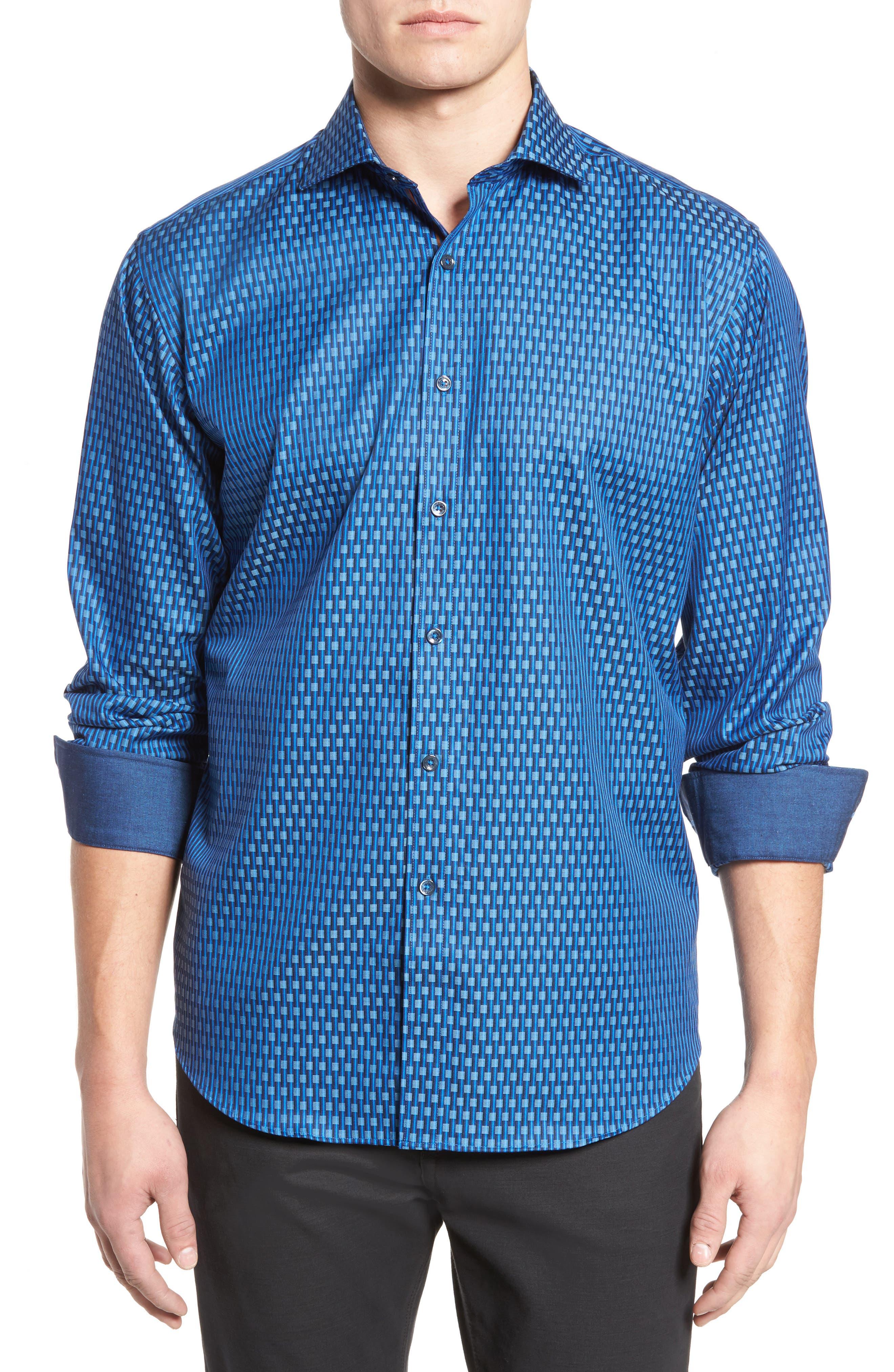 Classic Fit Print Sport Shirt,                         Main,                         color, 419