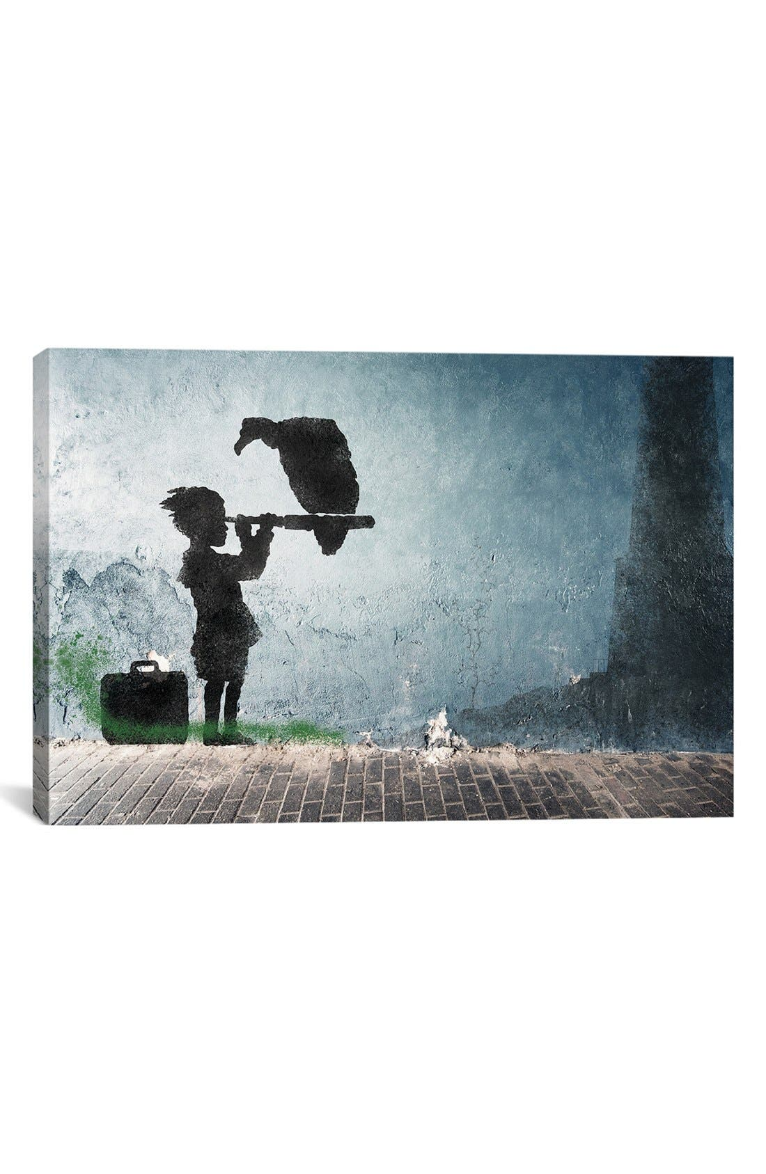 'Boy & His Vulture' Giclée Print Canvas Art,                             Main thumbnail 1, color,                             020