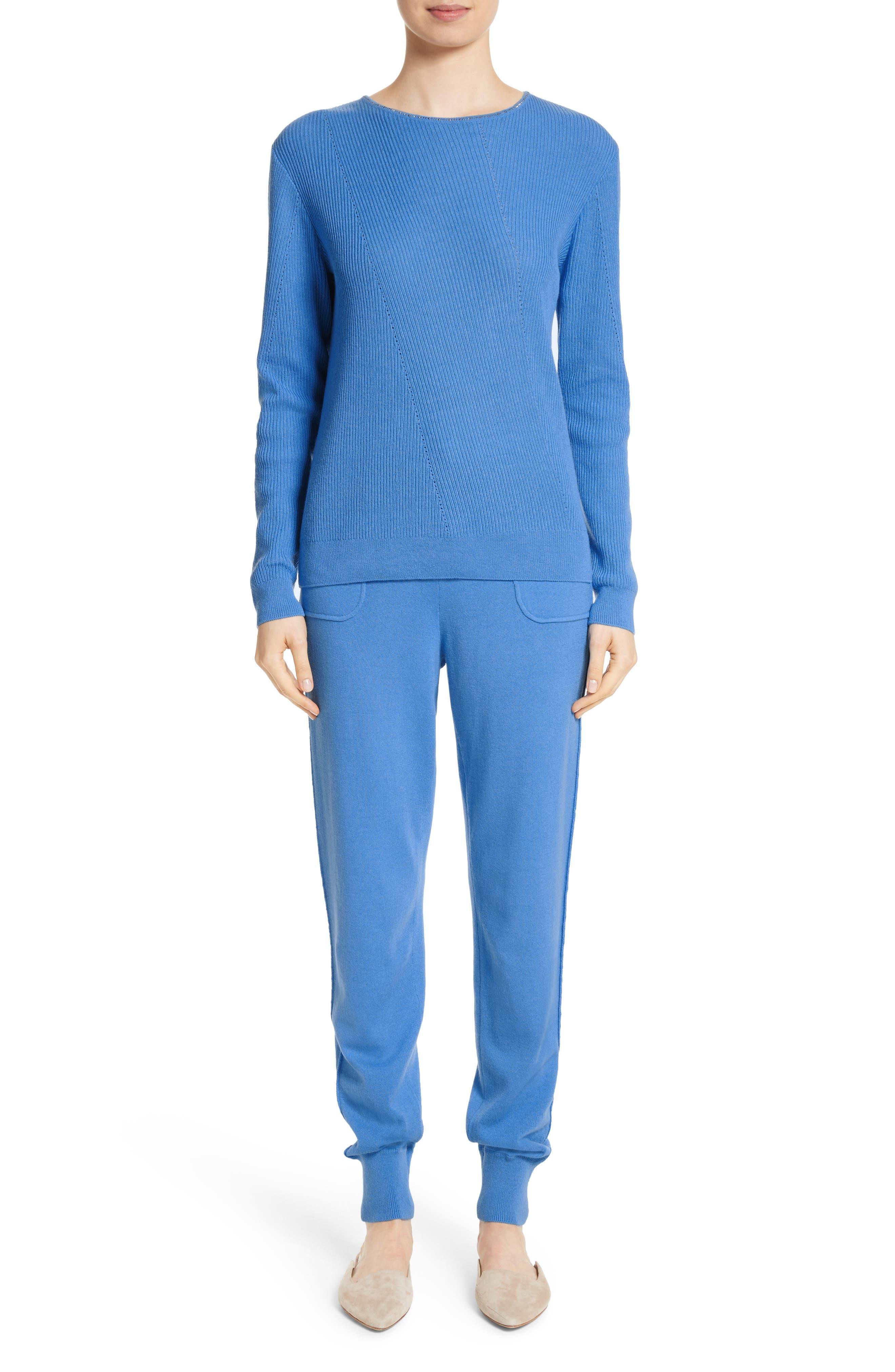Cashmere Jersey Pants,                             Alternate thumbnail 7, color,                             420