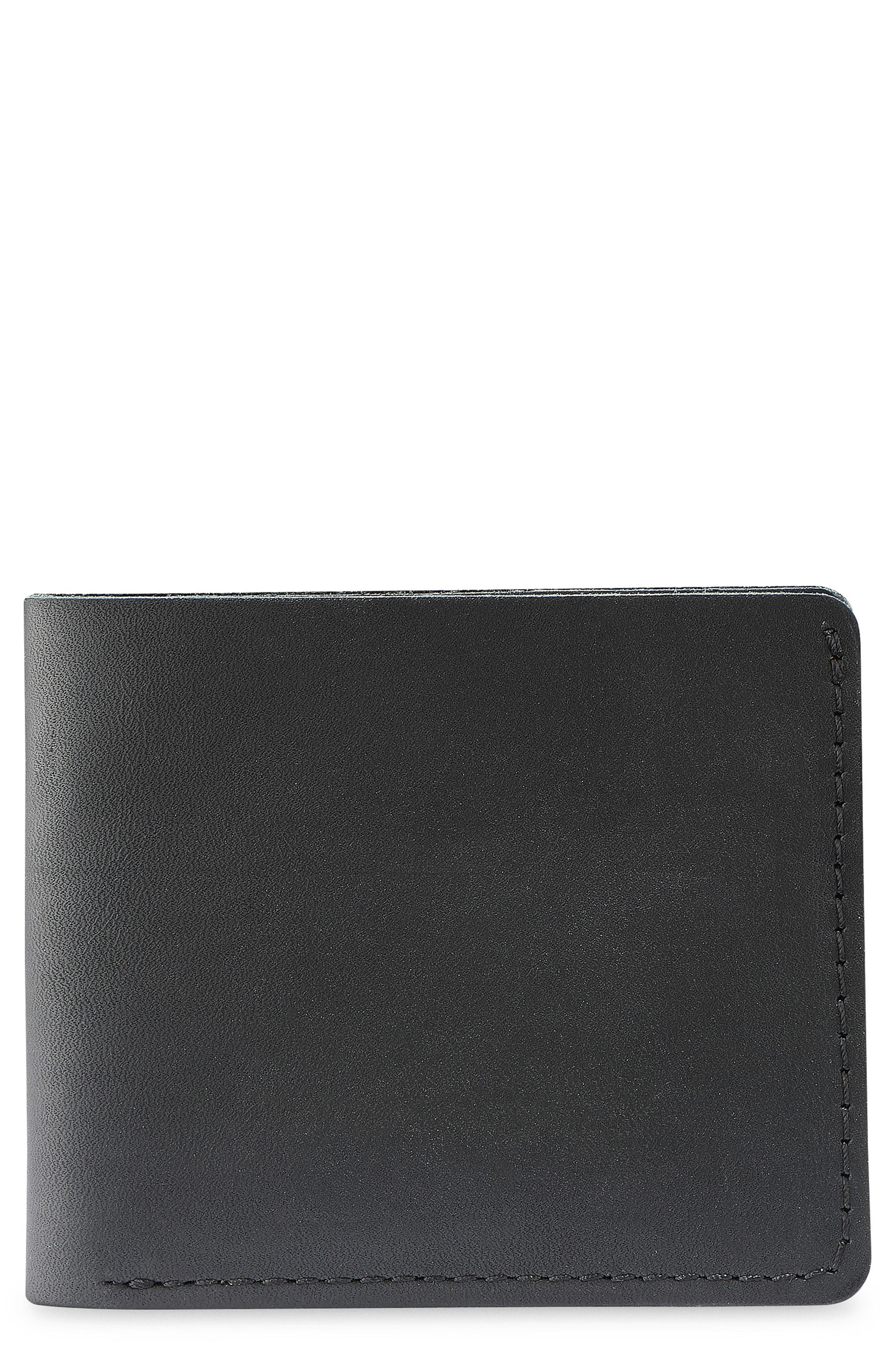 Classic Bifold Leather Wallet,                             Main thumbnail 1, color,                             BLACK