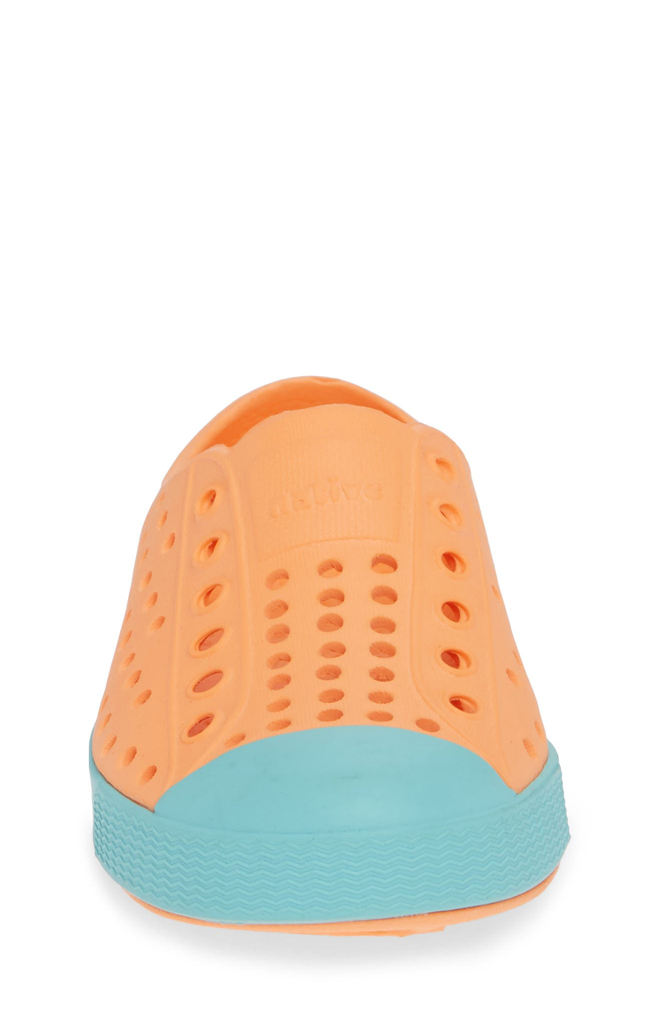 'Jefferson' Water Friendly Slip-On Sneaker,                             Alternate thumbnail 4, color,                             LASER ORANGE/ SHERBET BLUE