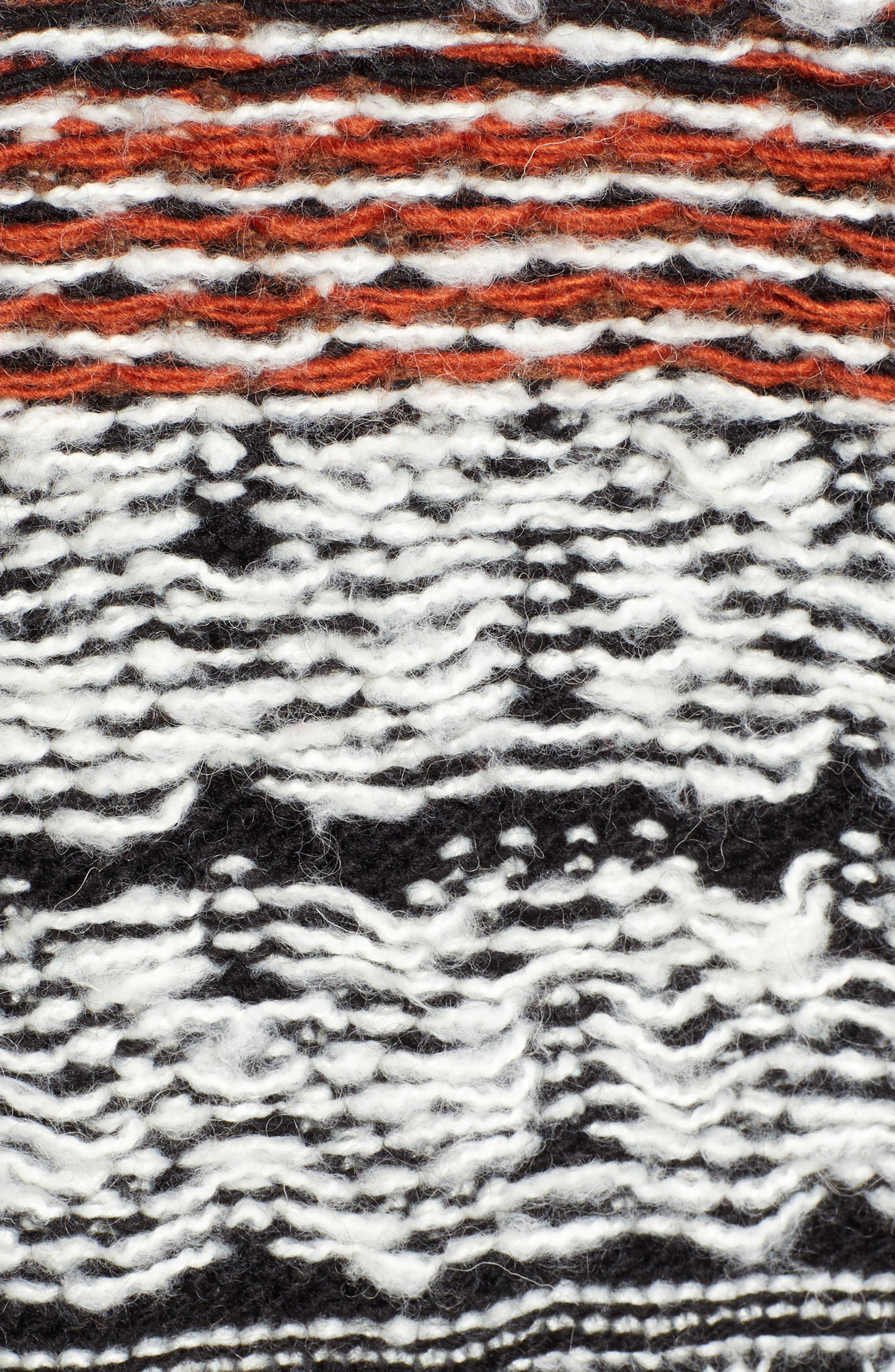 Multi Jacquard Sweater Coat,                             Alternate thumbnail 5, color,                             001